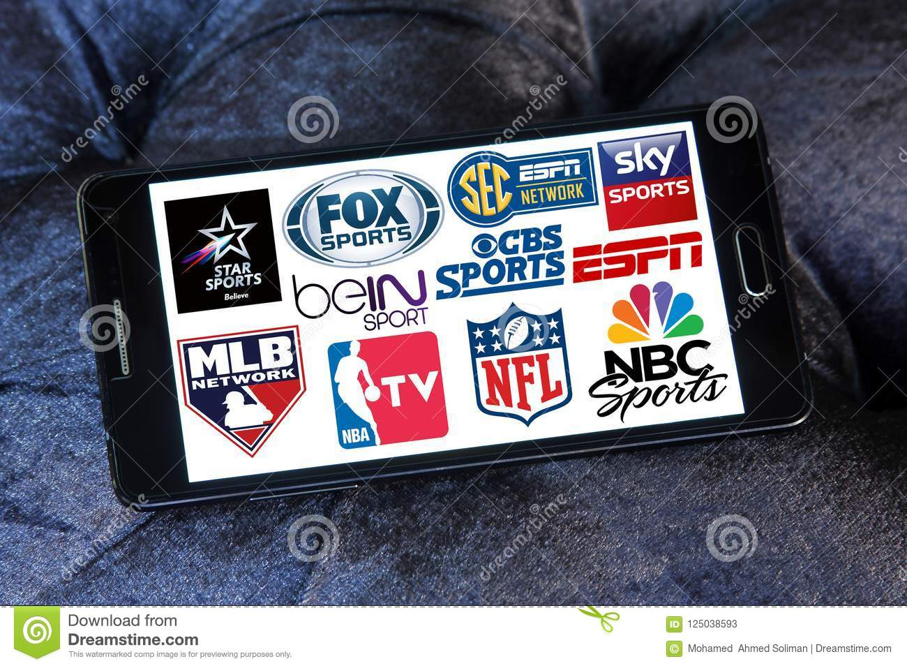 Sports Tv Channels And Networks Icons Editorial Stock Photo - Image
