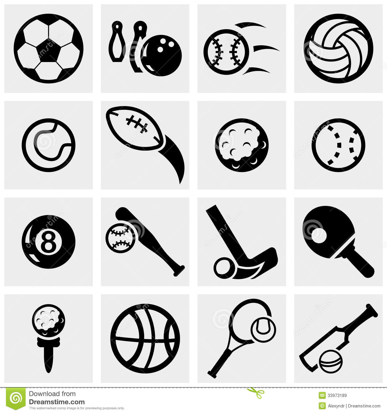 sports vector icons set on gray. stock vector - illustration of black,  race: 33973189  dreamstime.com