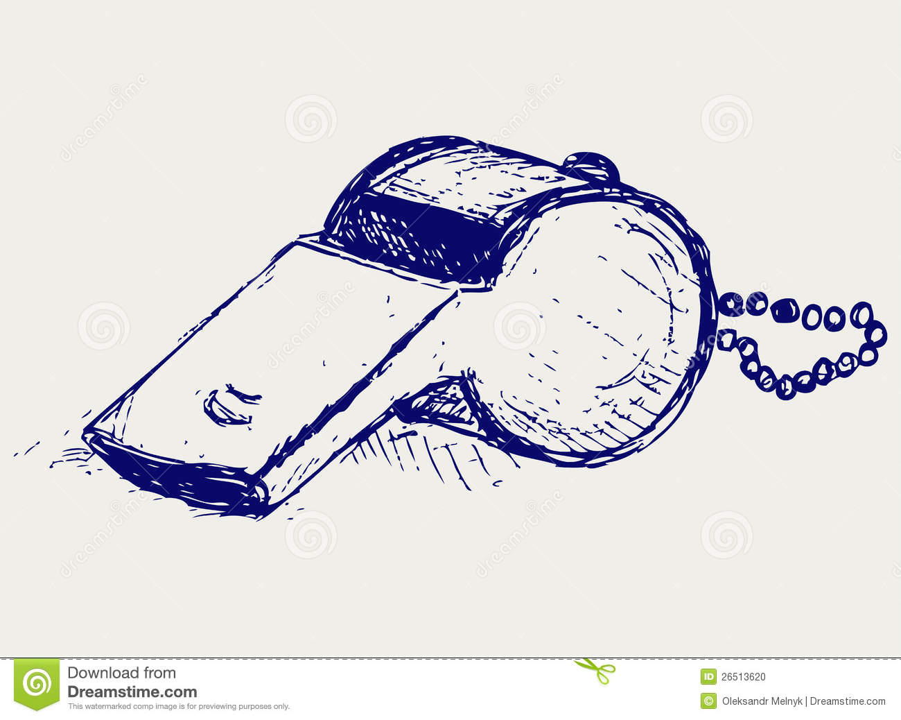 Sports Whistle With Pea Stock Photo - Image: 26513620