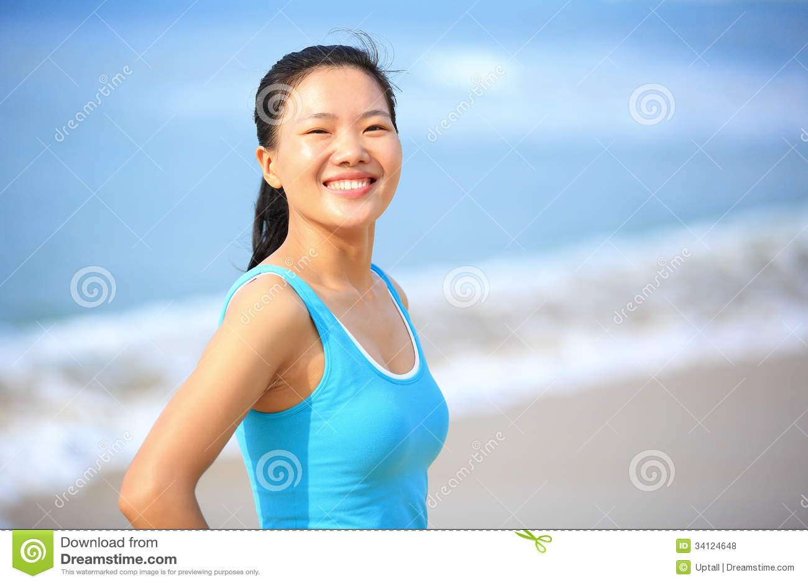 asian woman sports