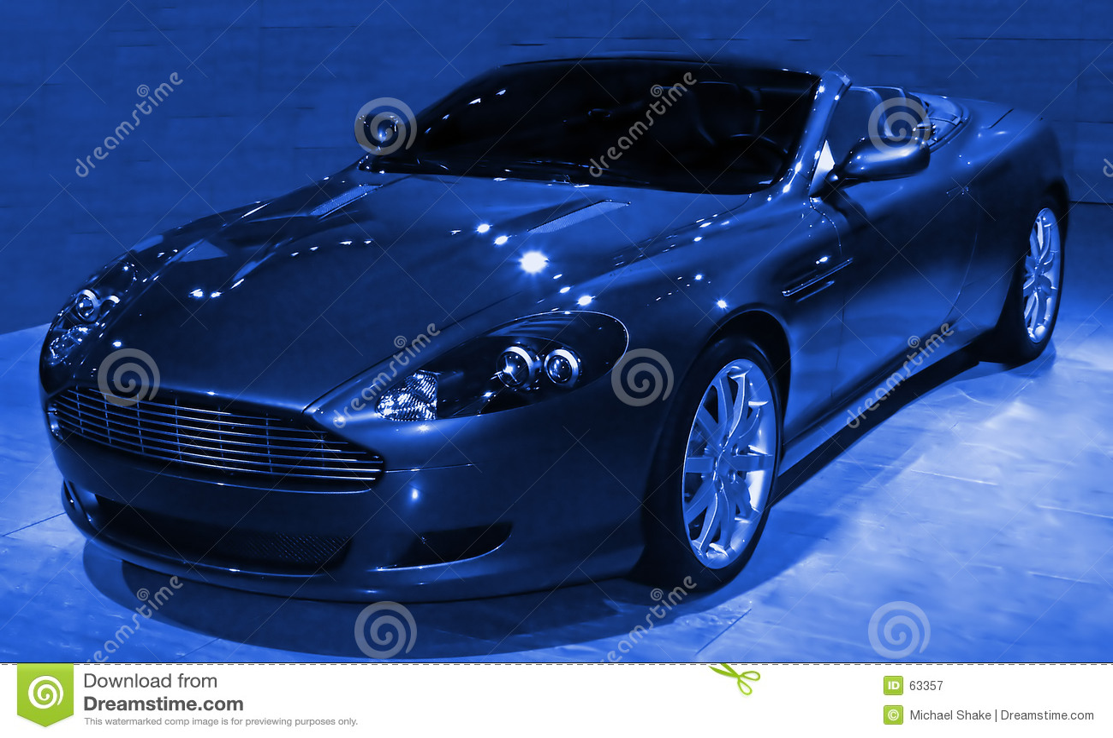 Sportscar abstracto azul