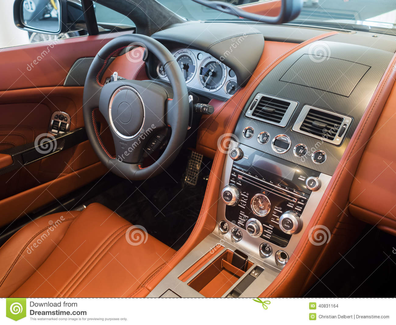 sportscar dashboard interior stock illustration image 40831164. Black Bedroom Furniture Sets. Home Design Ideas