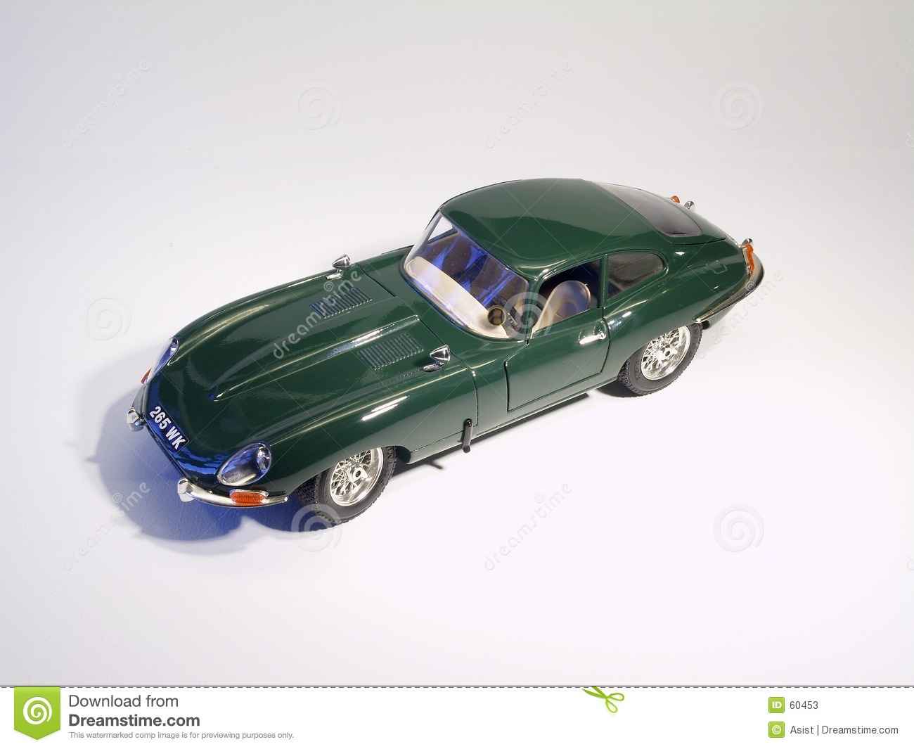 Sportscar Jaguar E-Type model