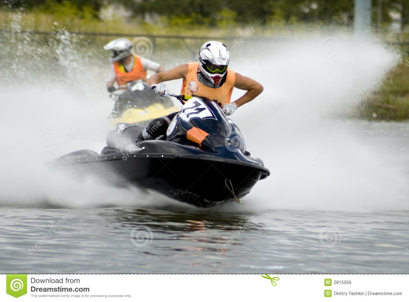 Sportsman in black jetski