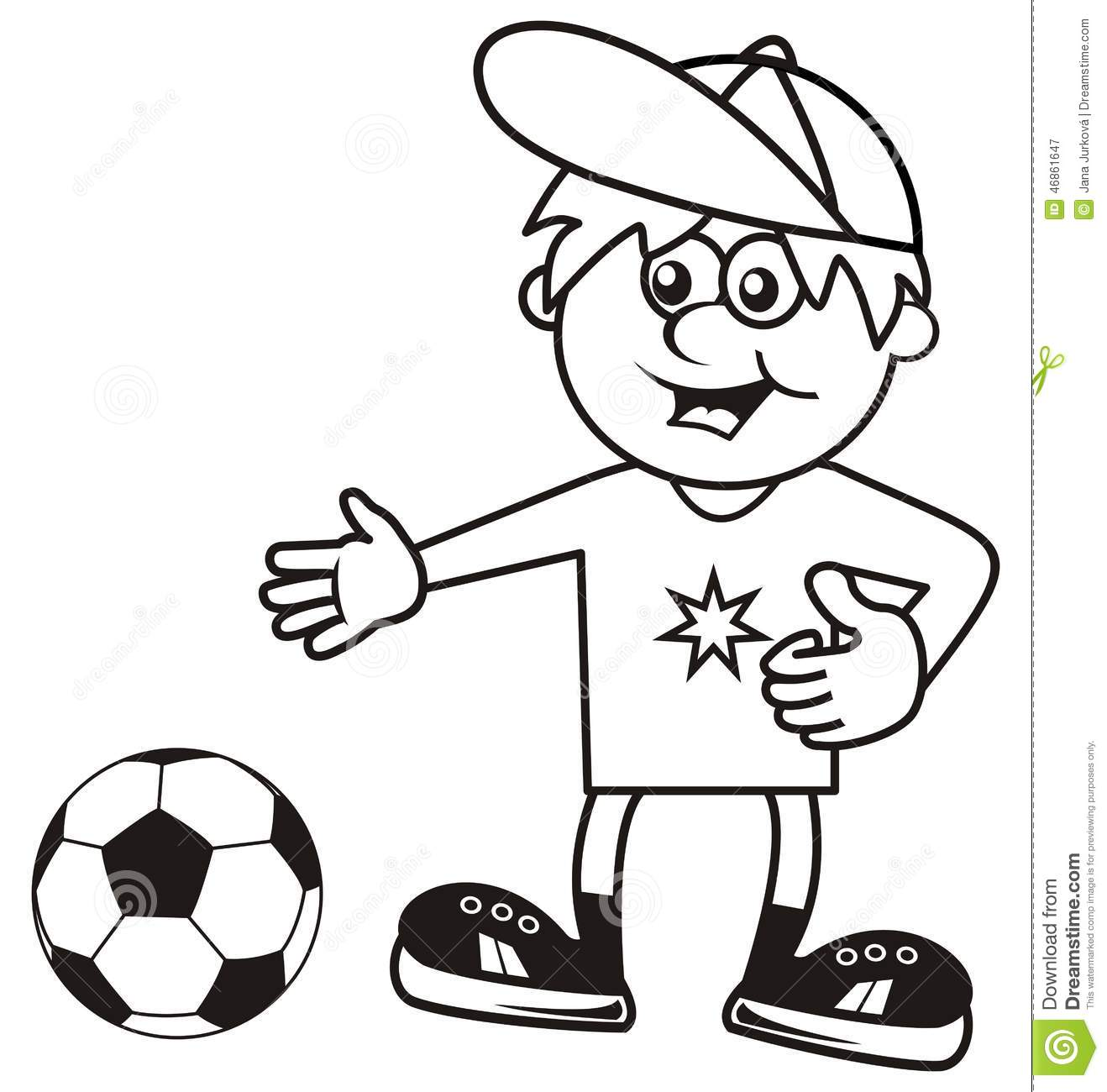 Sportsman, coloring book stock vector. Illustration of baby - 46861647