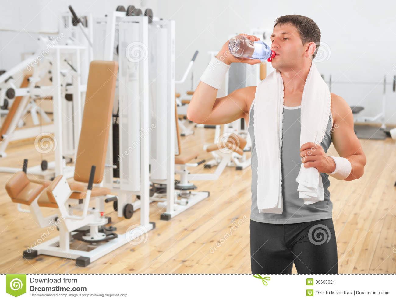 A sportsman drinking water from bottle stock image image 33638021 a sportsman drinking water from bottle sciox Choice Image
