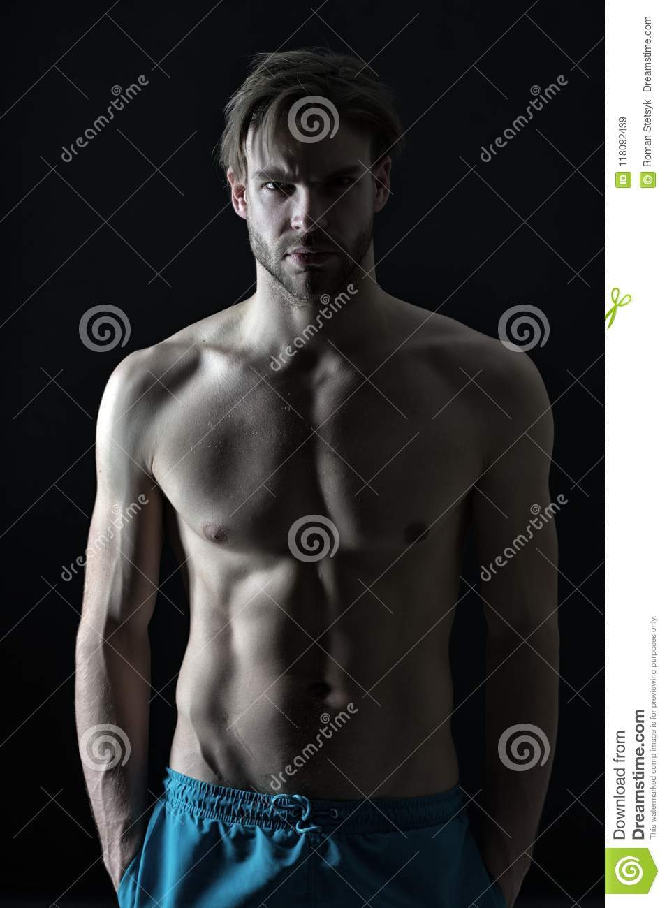 Sportsman With Torso And Chest Training And Workout Activity In Gym