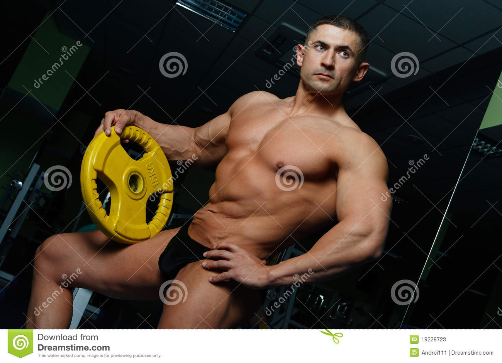 Sportsmen stock image. Image of slim, chest, solid
