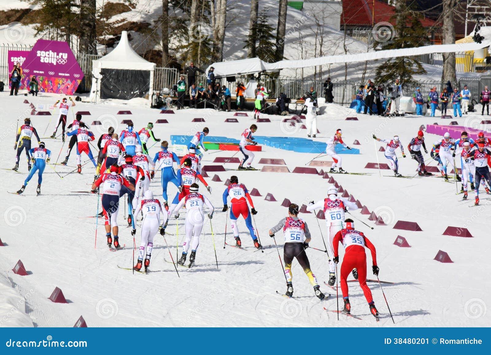 Sportsmen During Men's Cross-country 50km Mass Start ...
