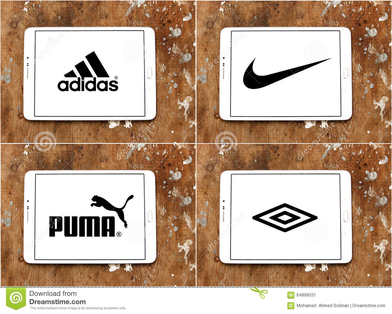 ce7bc13e420f Logos and brands of worldwide sportswear companies adidas