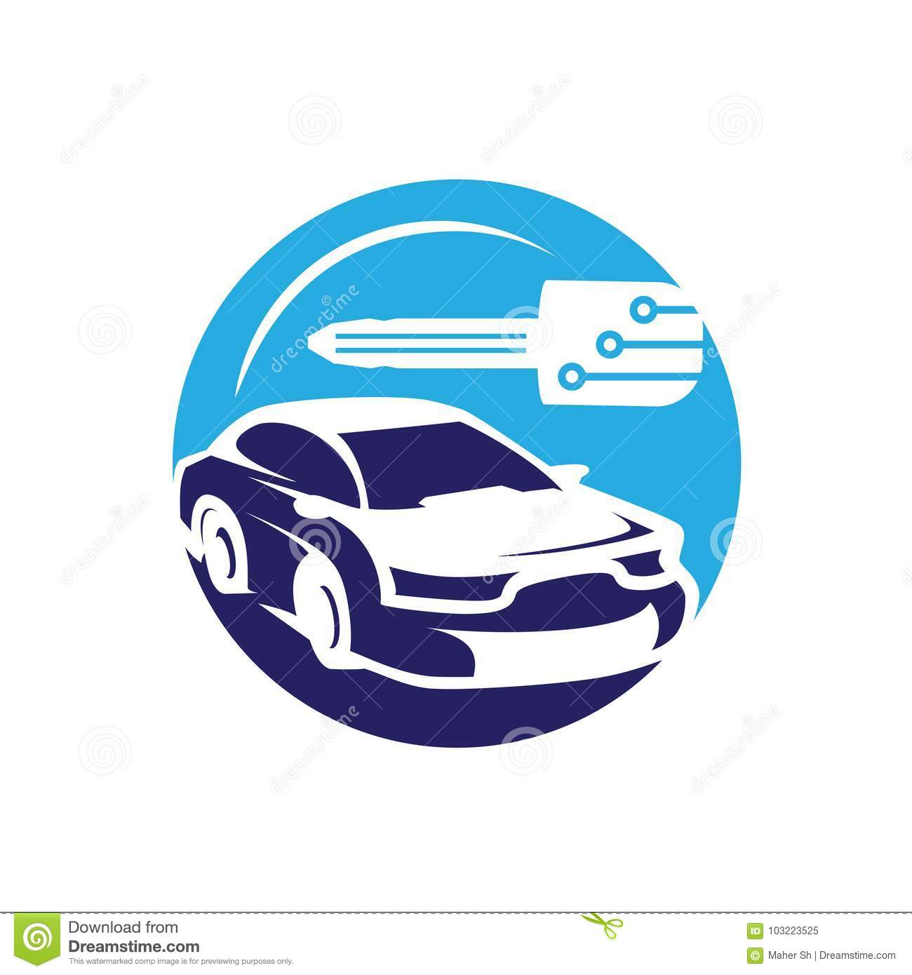 Sporty Car Illustration Stock Vector Illustration Of Minicar