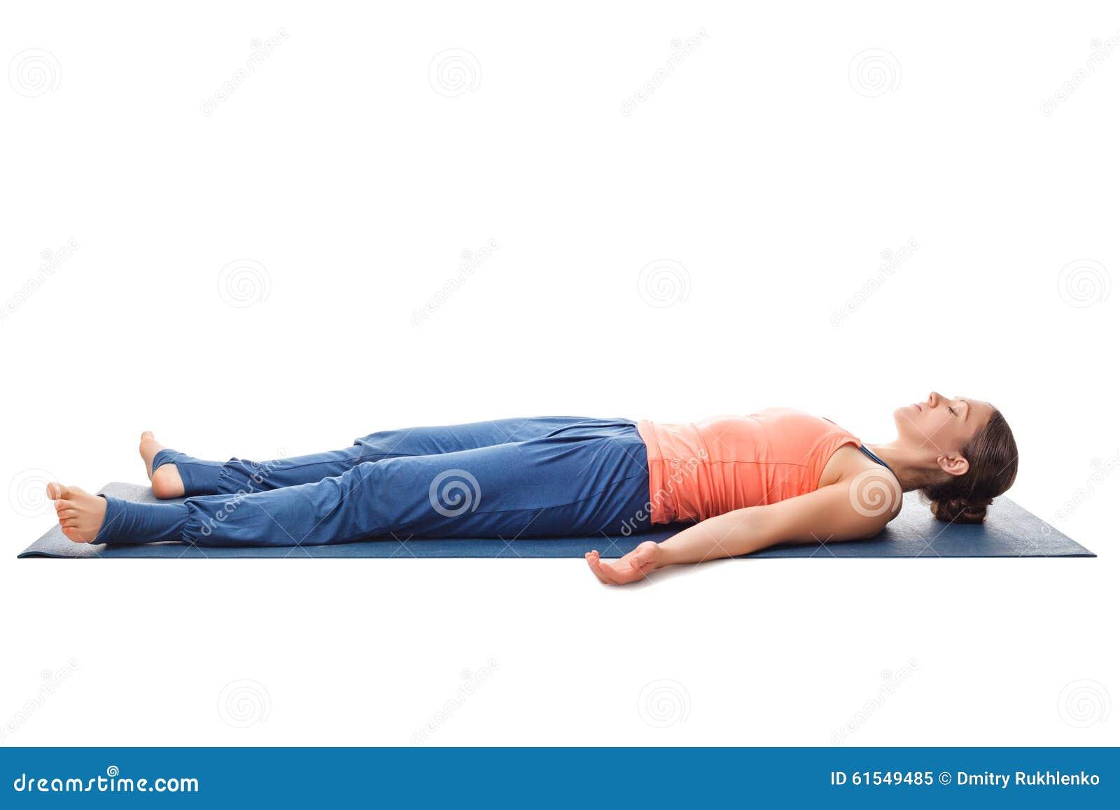 Savasana Yoga Pose Stock Photos, Images, & Pictures - 110 Images