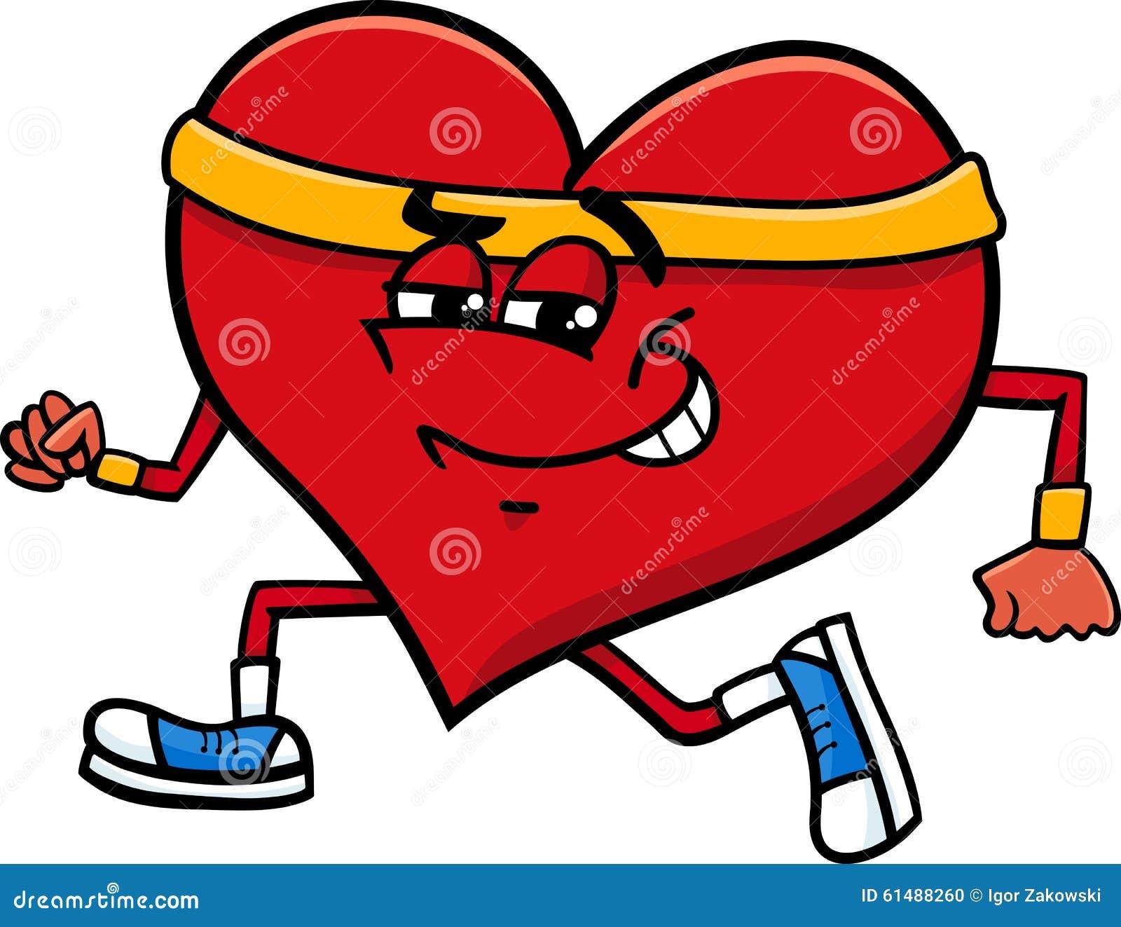 Sporty Heart Cartoon Character Stock Vector Illustration Of