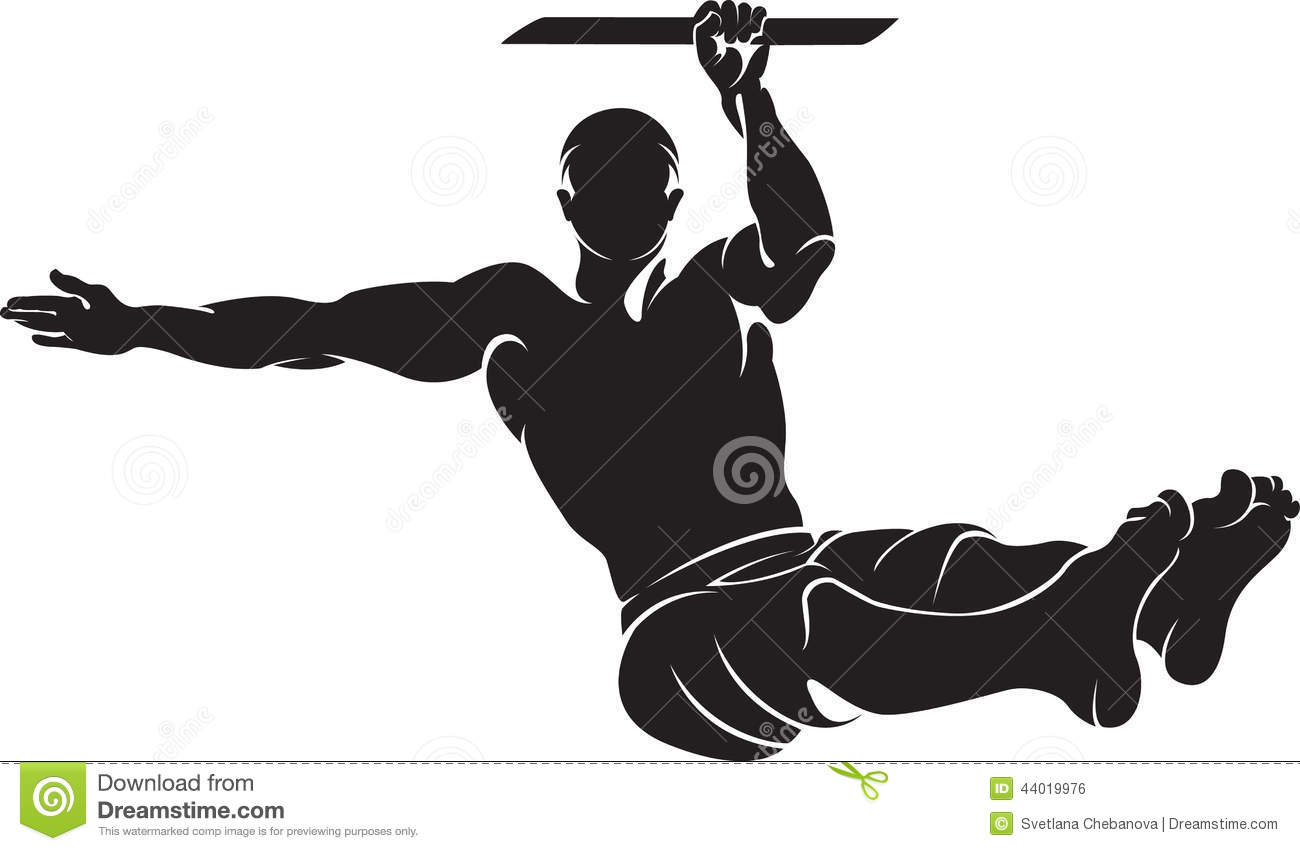 Sporty Man Doing Street Workout Exercise Stock Vector - Image ...