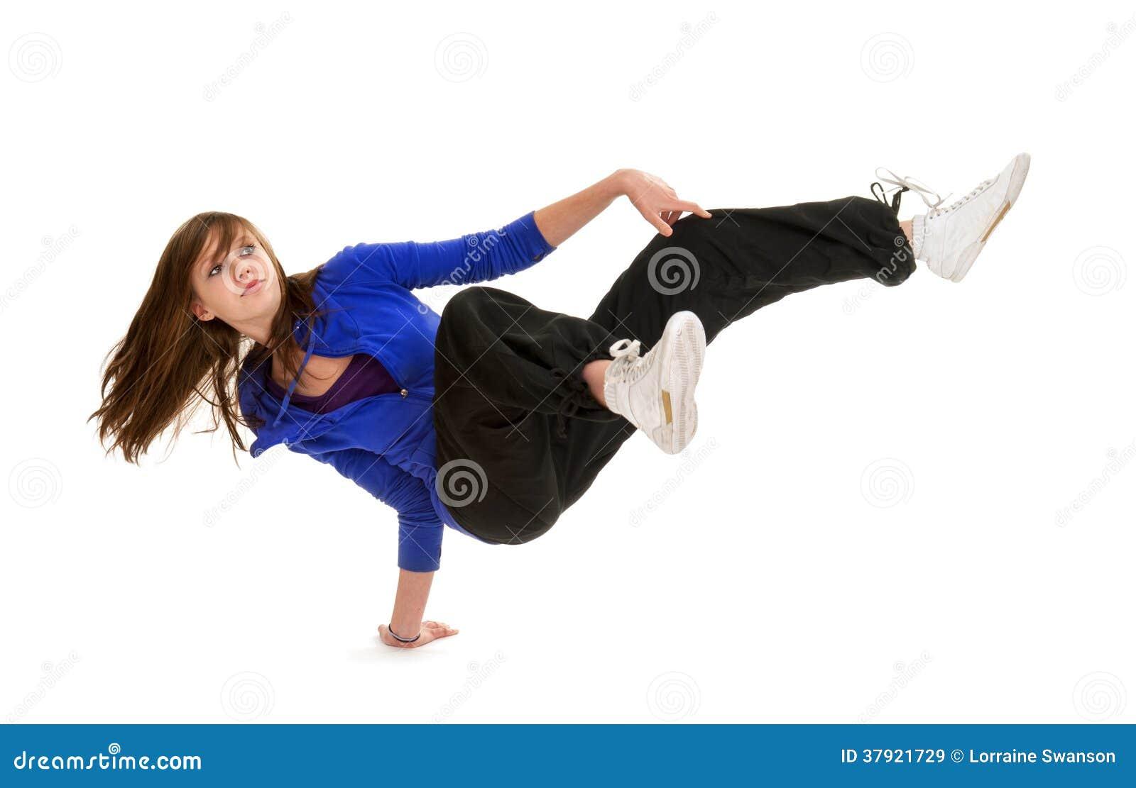 Sporty Nastoletni przerwa tancerz w akci