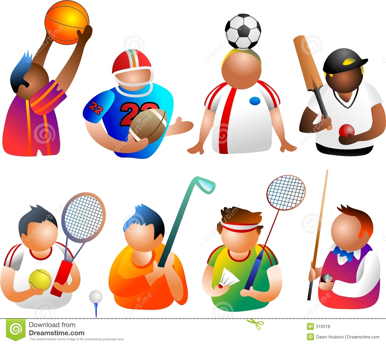 Sporty People Royalty Free Stock Photos - Image: 316318