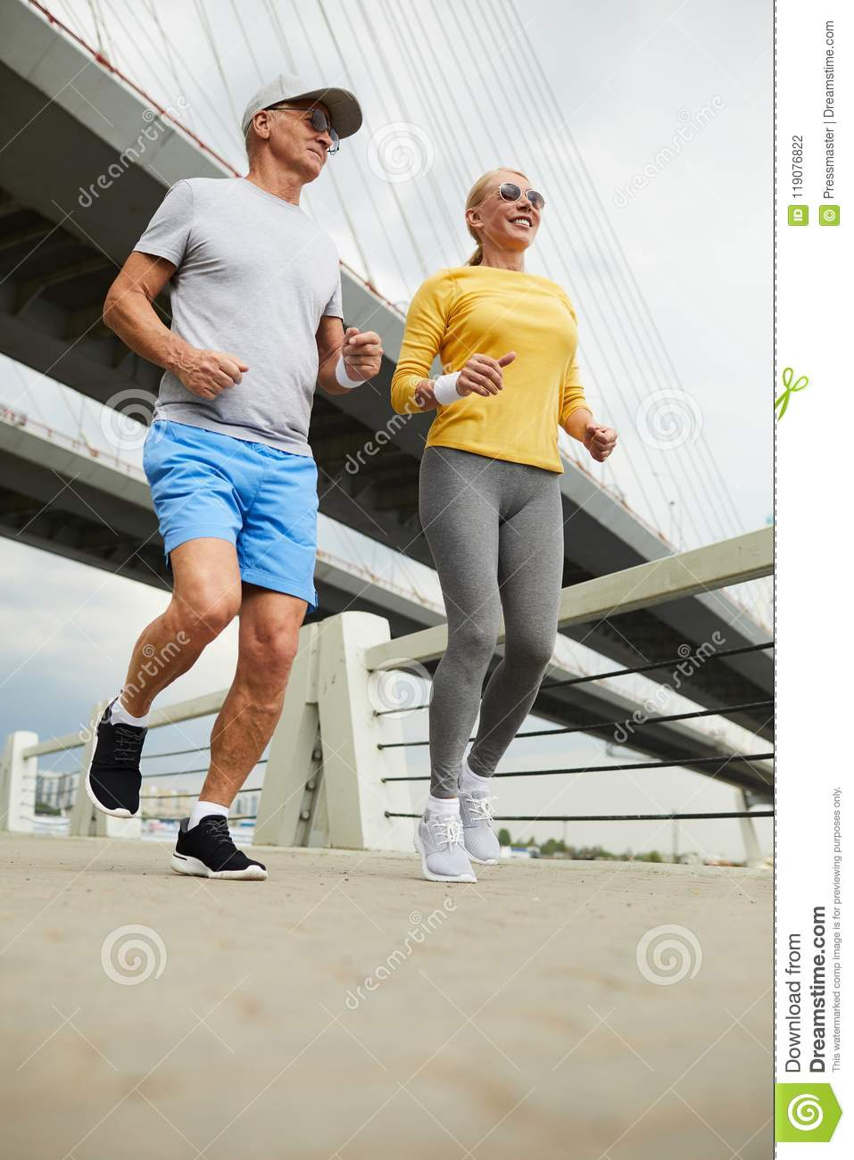 best selling factory outlets greatvarieties Seniors jogging stock photo. Image of mature, couple - 119076822