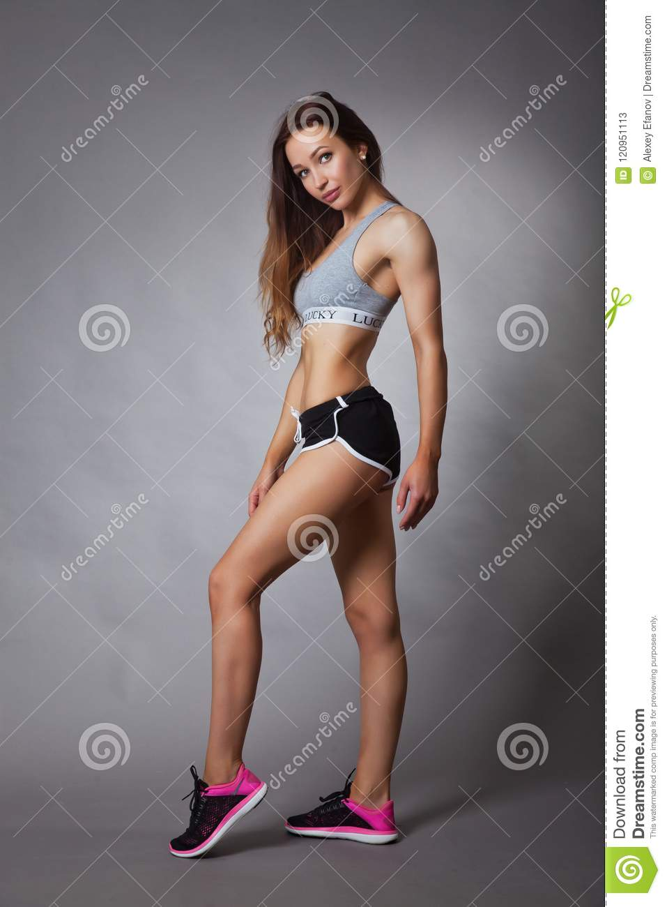 892a226253 Sporty and slim girl stock image. Image of clothing - 120951113