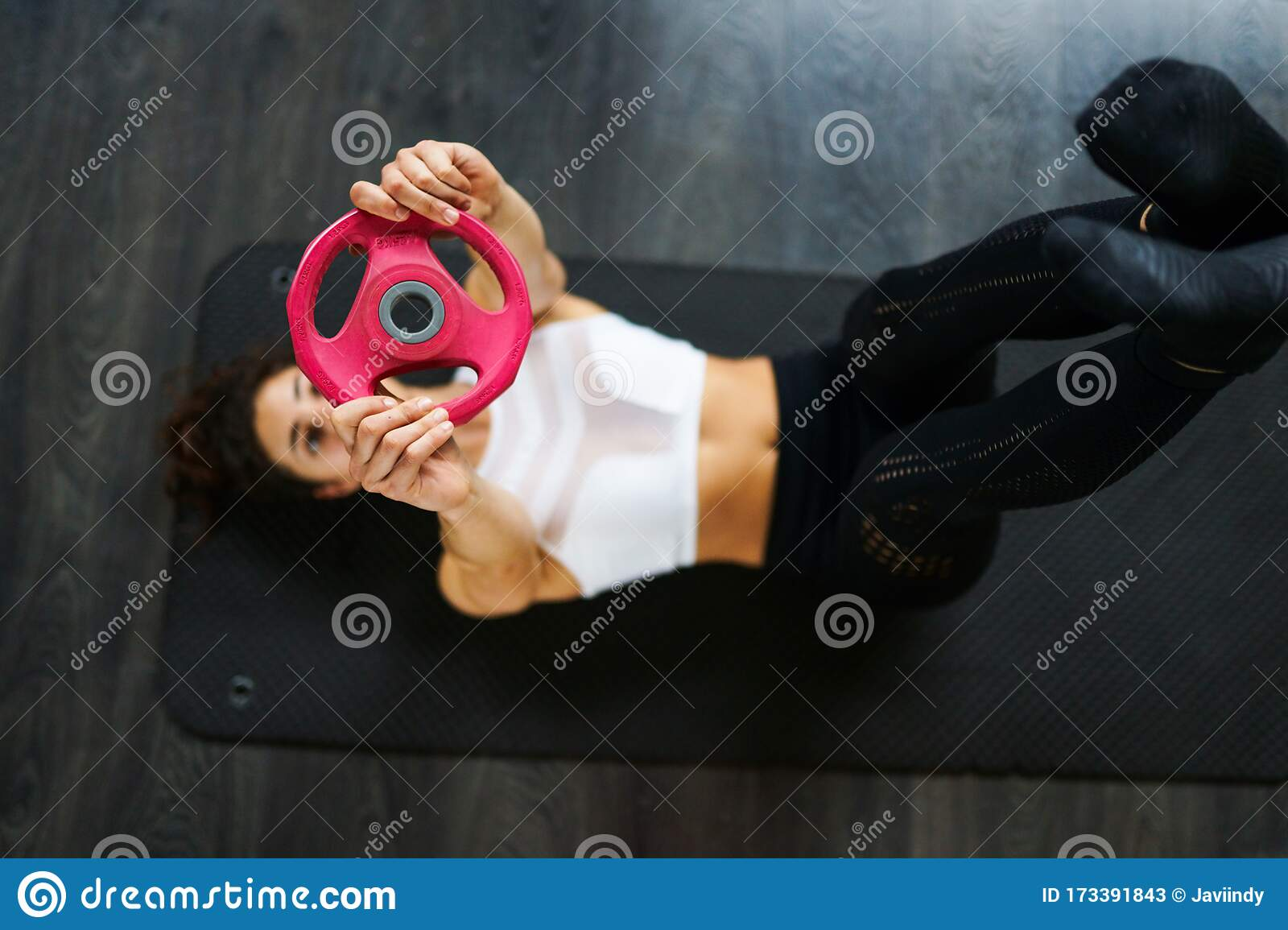 Man Woman Exercising Legs Workout Fitness Stock Image