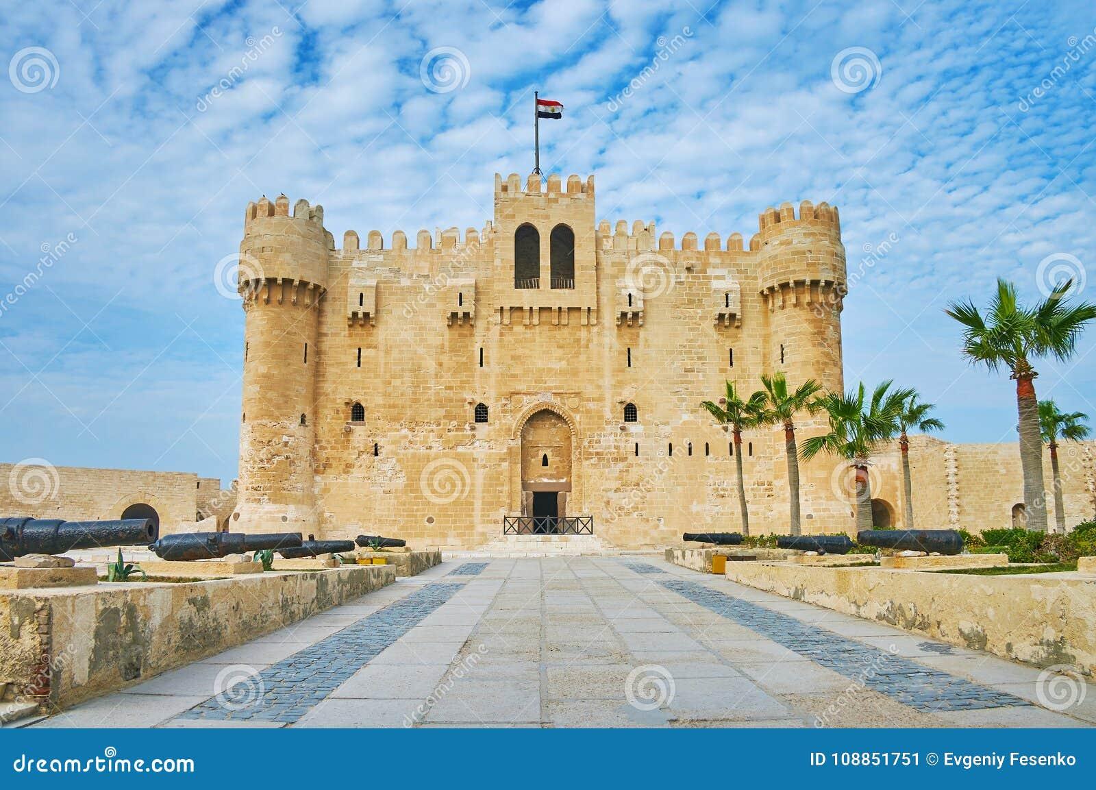 Sposób Aleksandria kasztel, Egipt