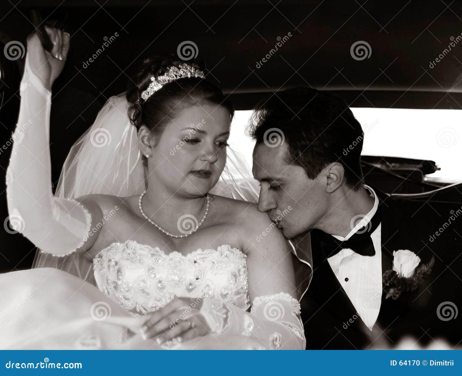 Sposa e sposo nel limo