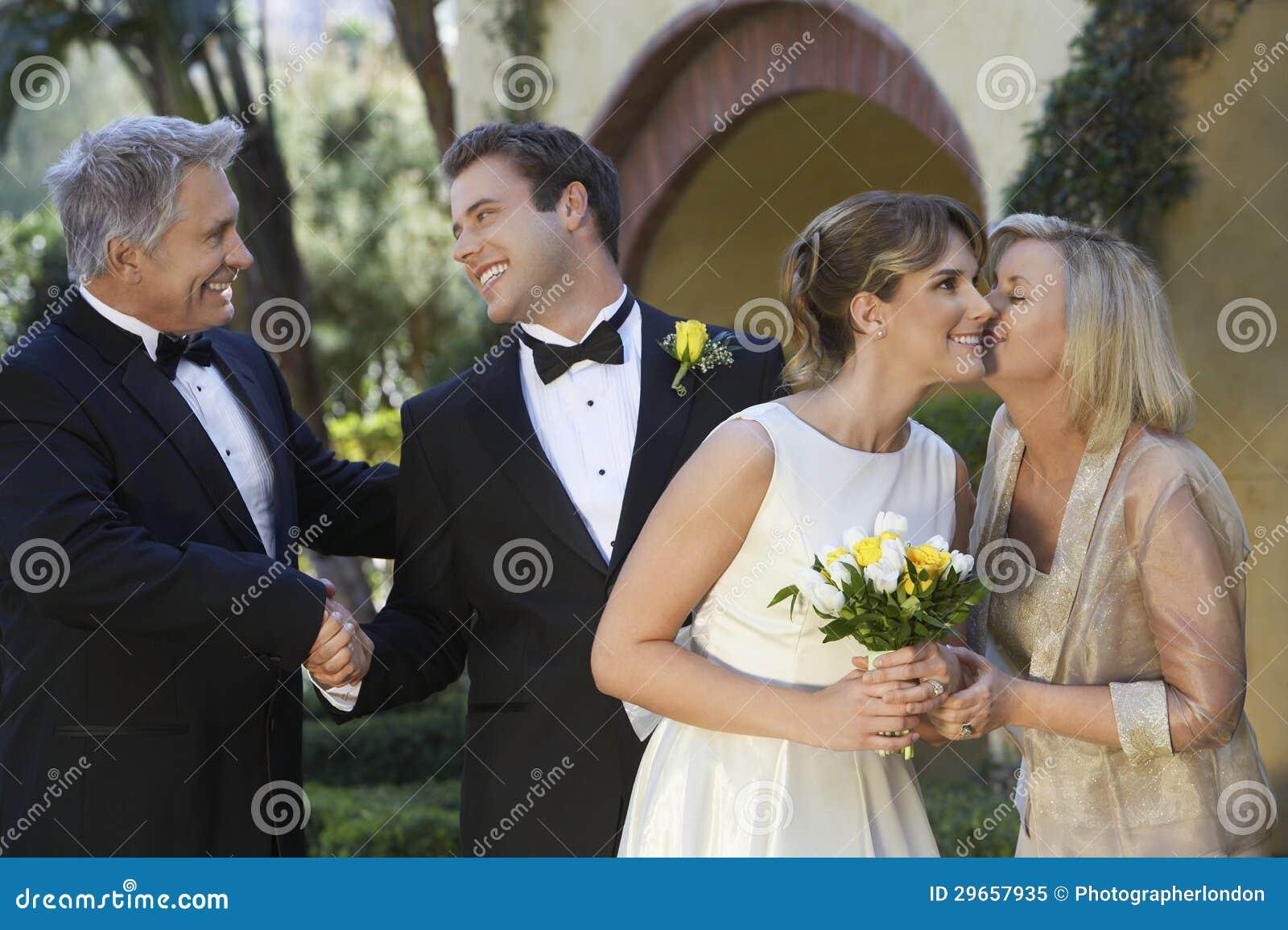 Sposa e sposo With Parents