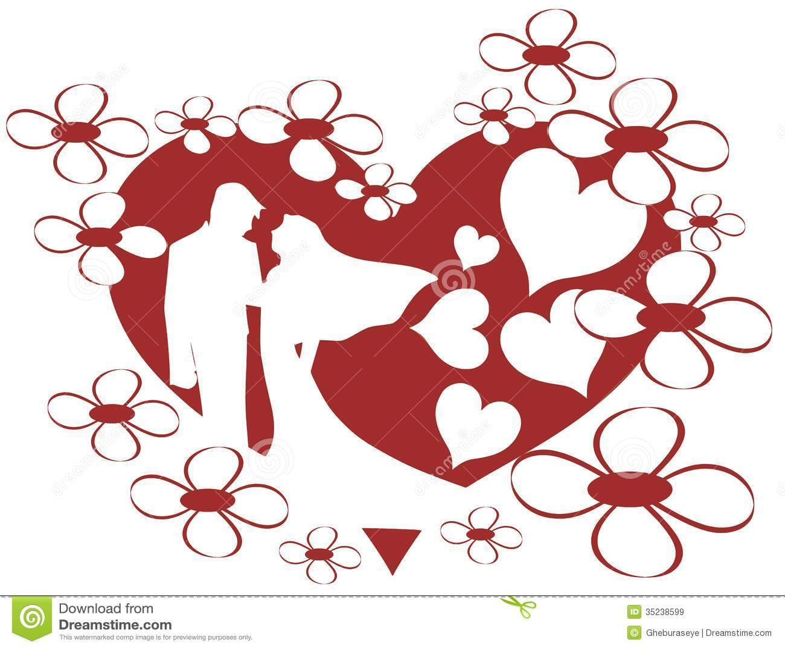 Sposo e spose illustrazione di stock illustrazione di for Disegni sposi stilizzati