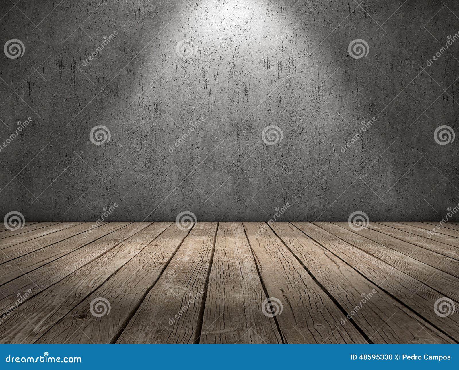 Spot light wood floor