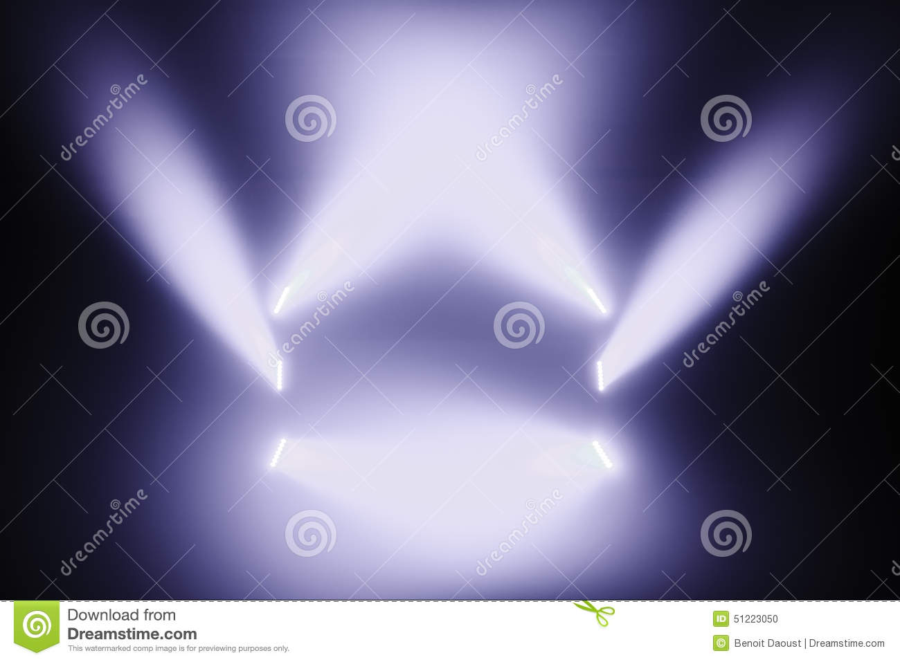 Download Spot Lights On A Empty Stage Stock Photo