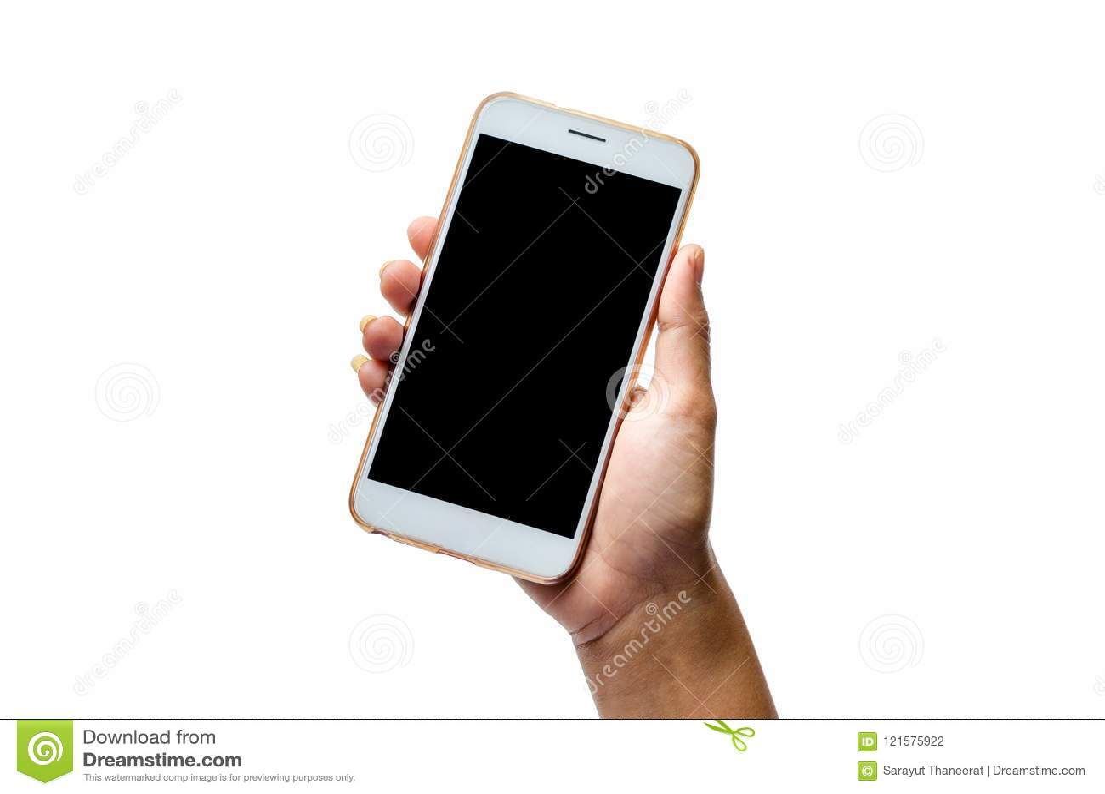 Spot omhoog van een apparaat van de mensenholding en wat betreft het scherm De knippende mobiele telefoon weg Witte van het achte