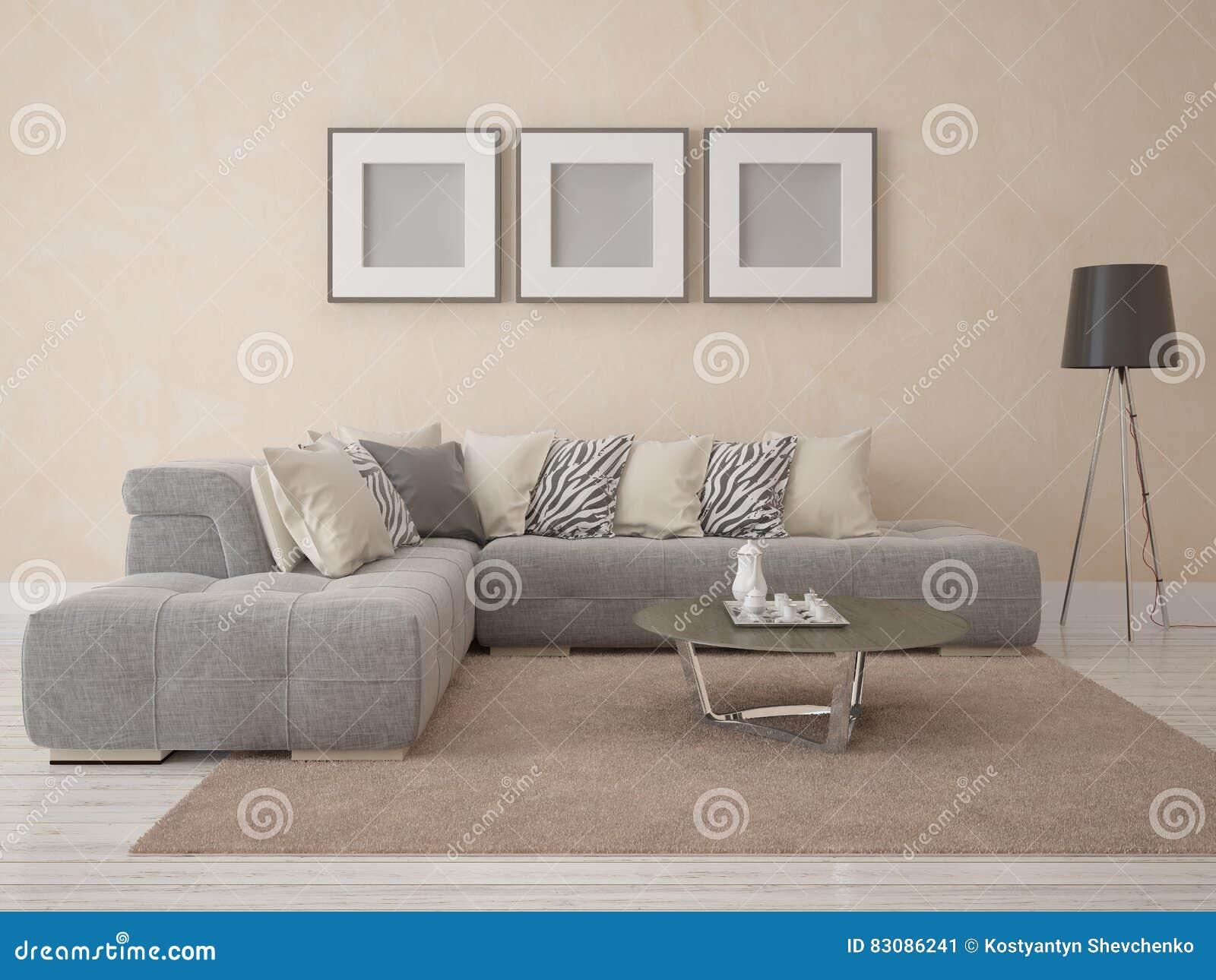 Spot op affiche moderne woonkamer stock illustratie illustratie