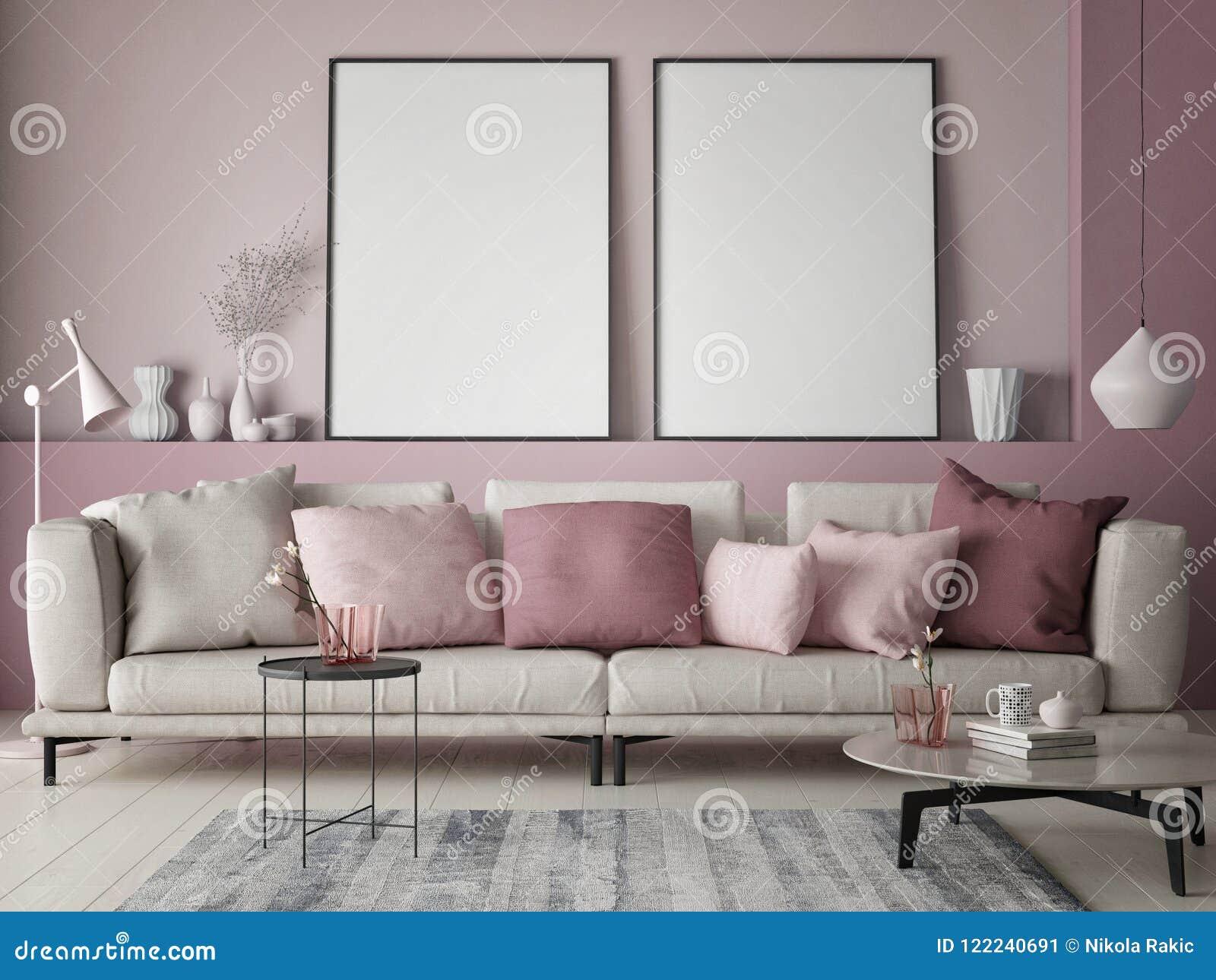 https://thumbs.dreamstime.com/z/spot-op-affiche-roze-muur-hipsterwoonkamer-gekleurde-pastelkleur-122240691.jpg