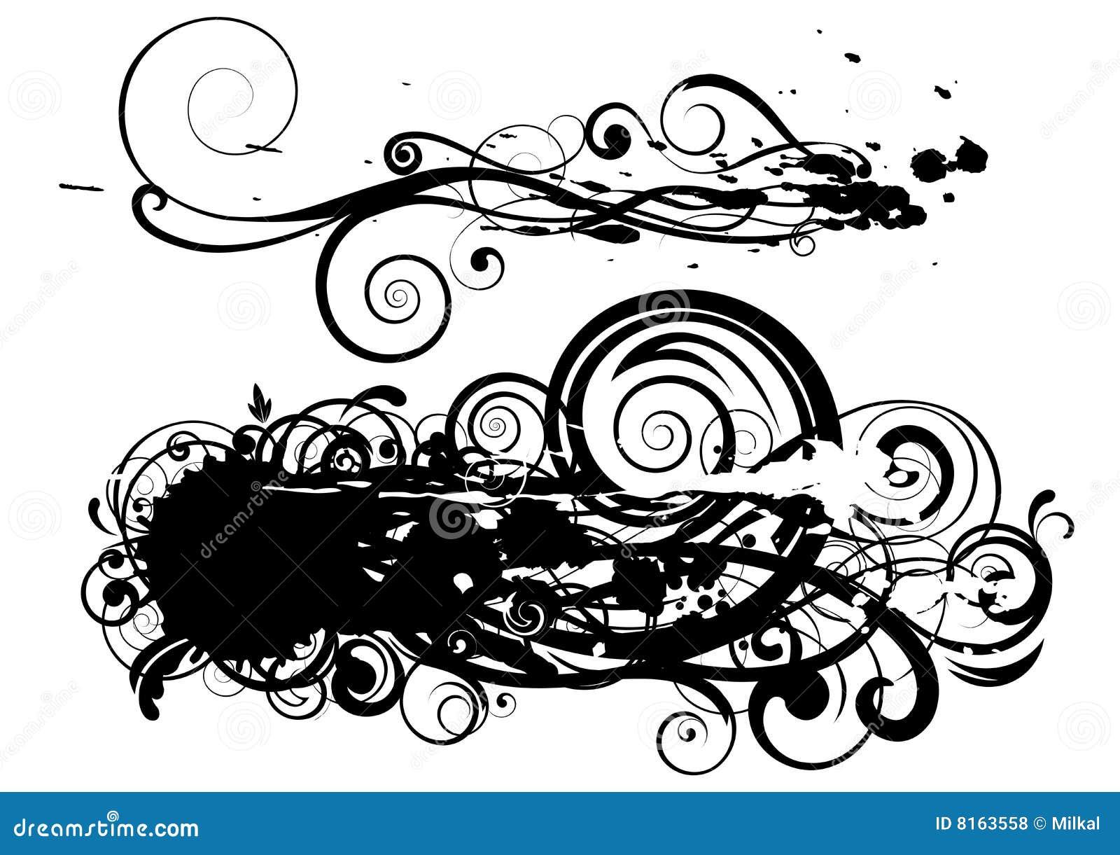 spot swirl design royalty free stock photos image 8163558. Black Bedroom Furniture Sets. Home Design Ideas