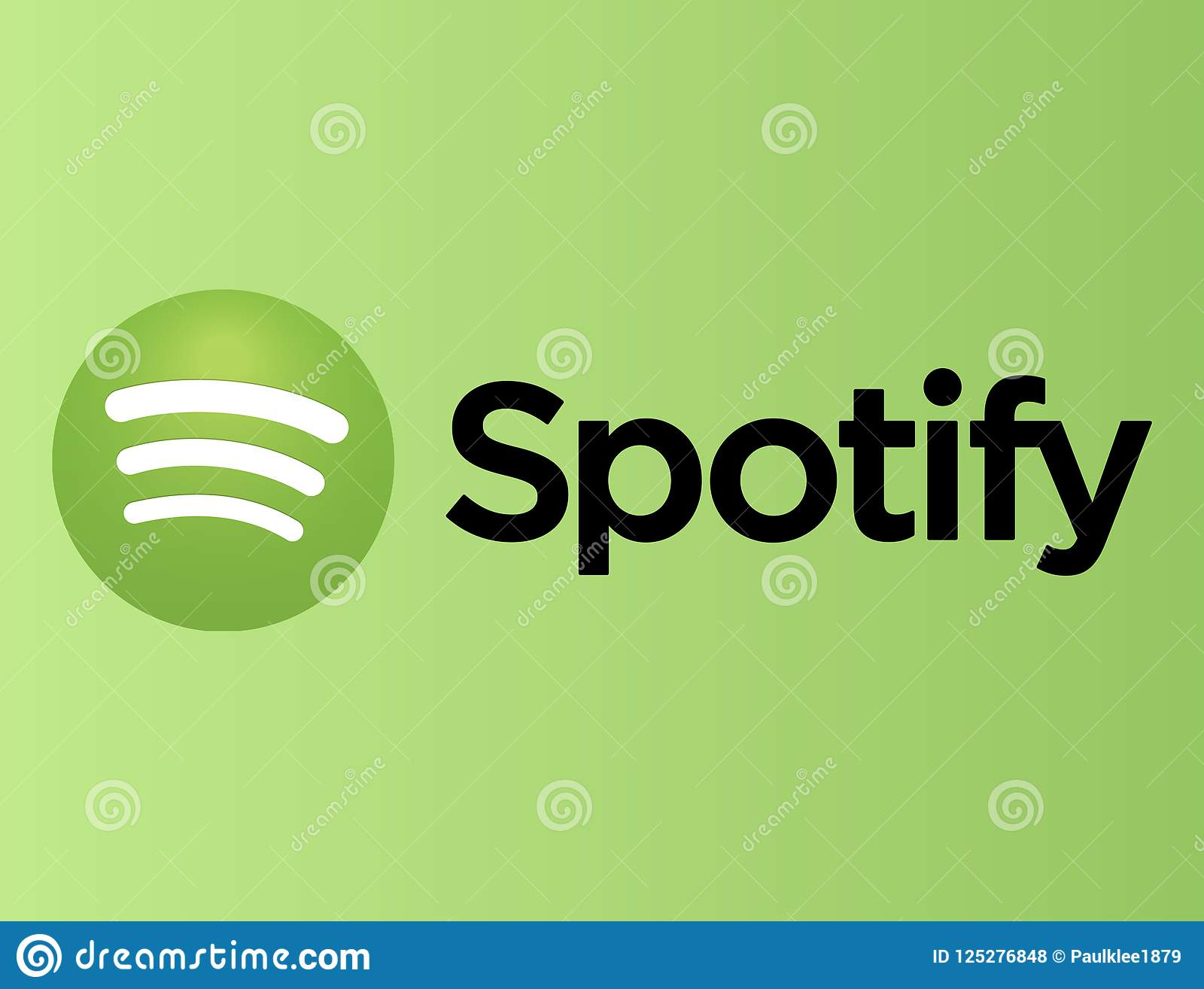 Spotify logo on green paper