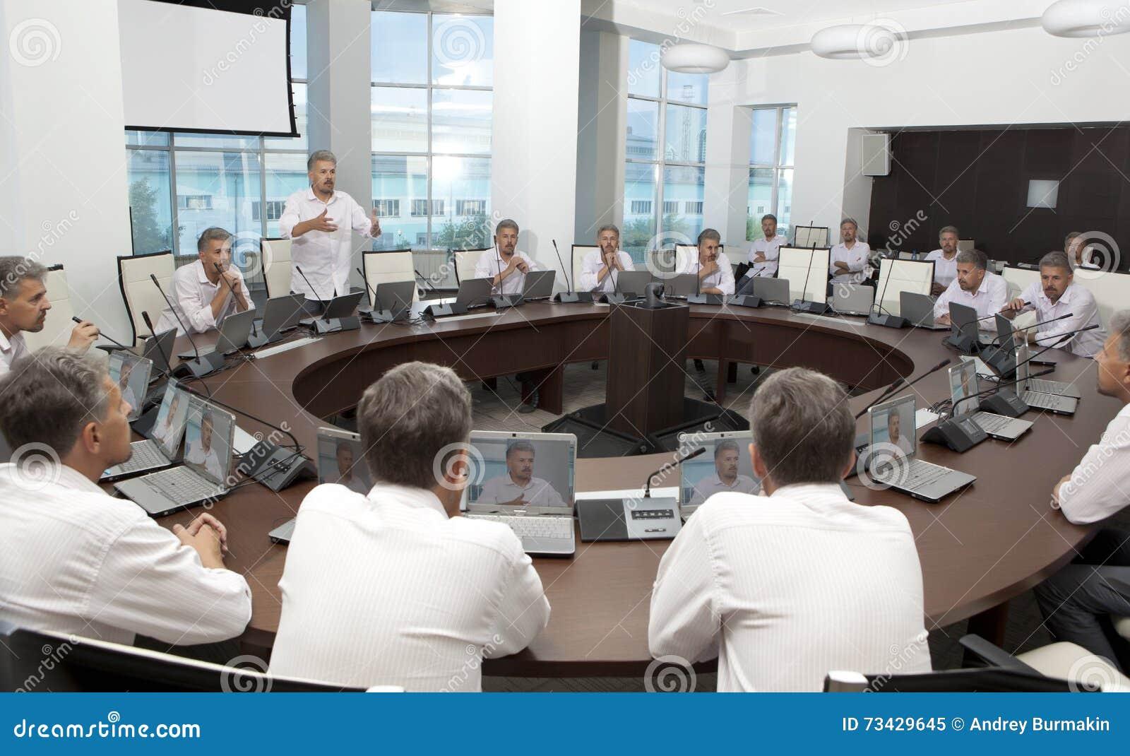 Spotkanie i dyskusi odprawa Biznesowy spotkanie, konferencja