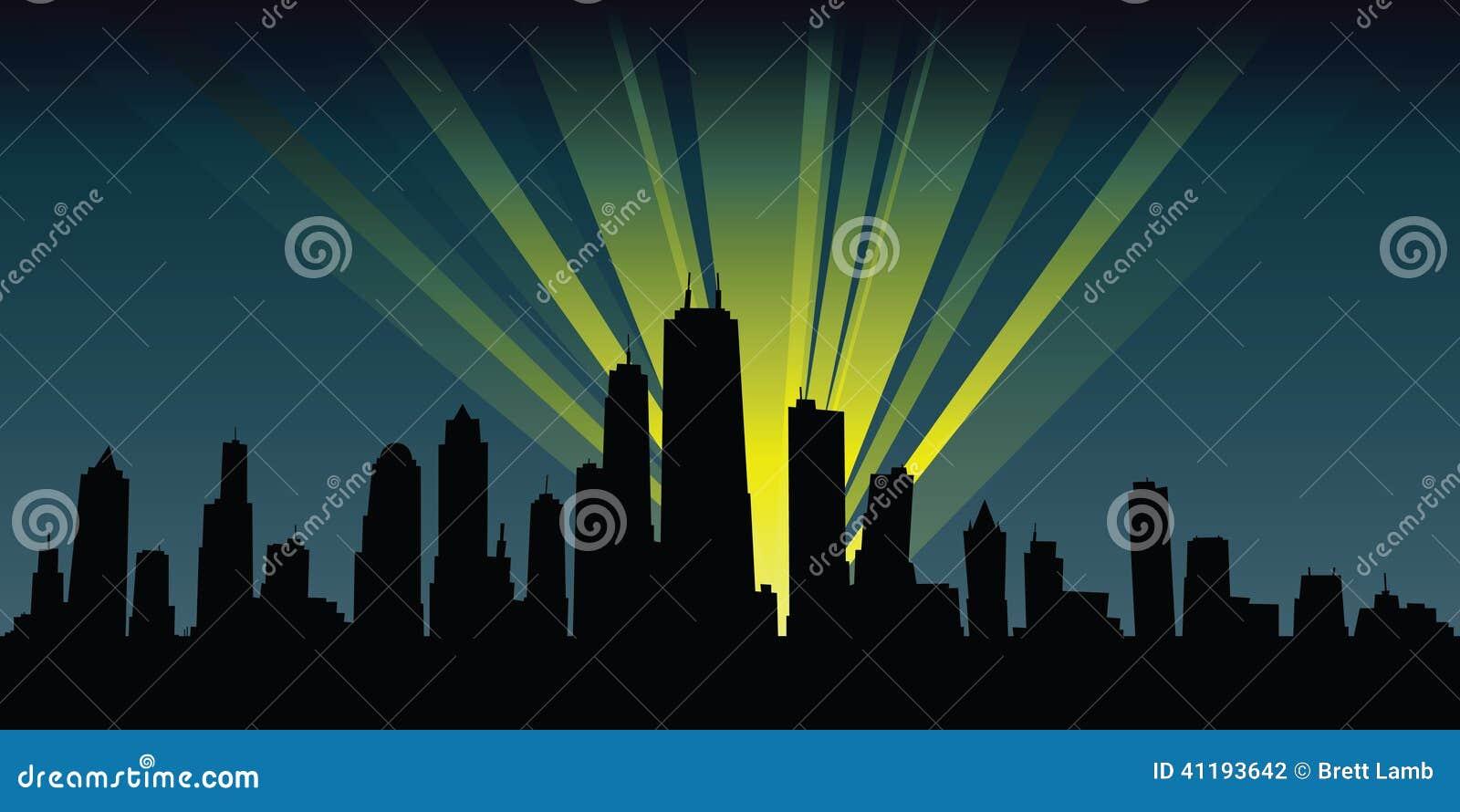 Spotlights illuminate ...