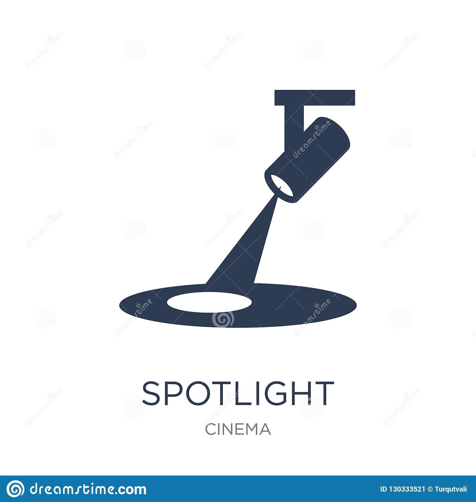 Spotlight icon. Trendy flat vector Spotlight icon on white background from Cinema collection