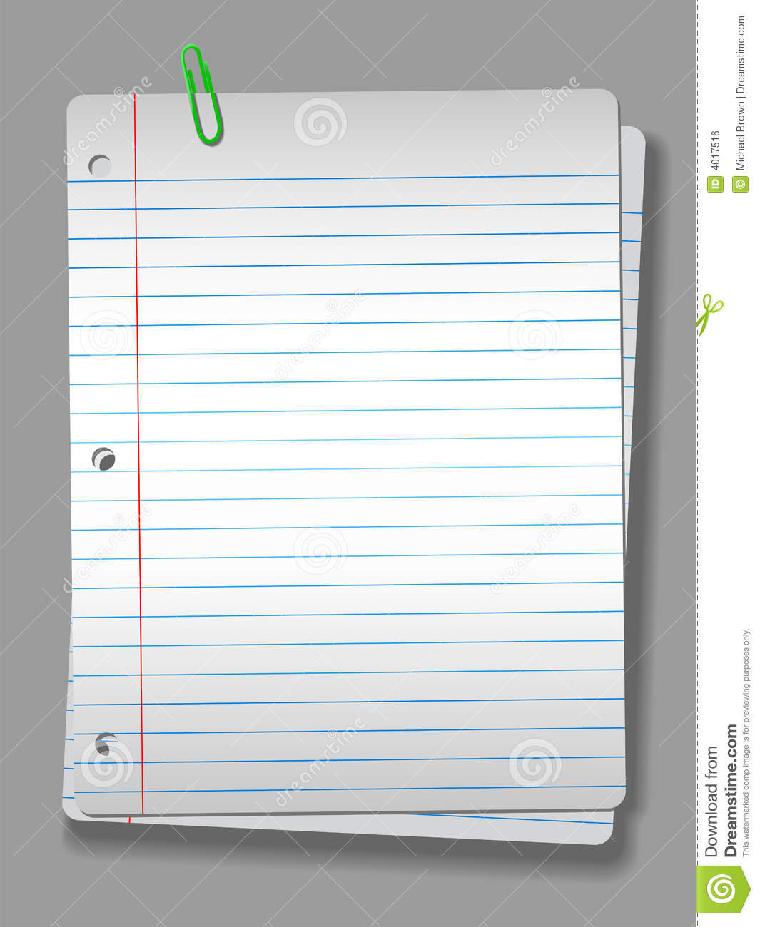 Spotlight Notebook Paper Clip 2 Pages Background Royalty Free – Notebook Paper Download