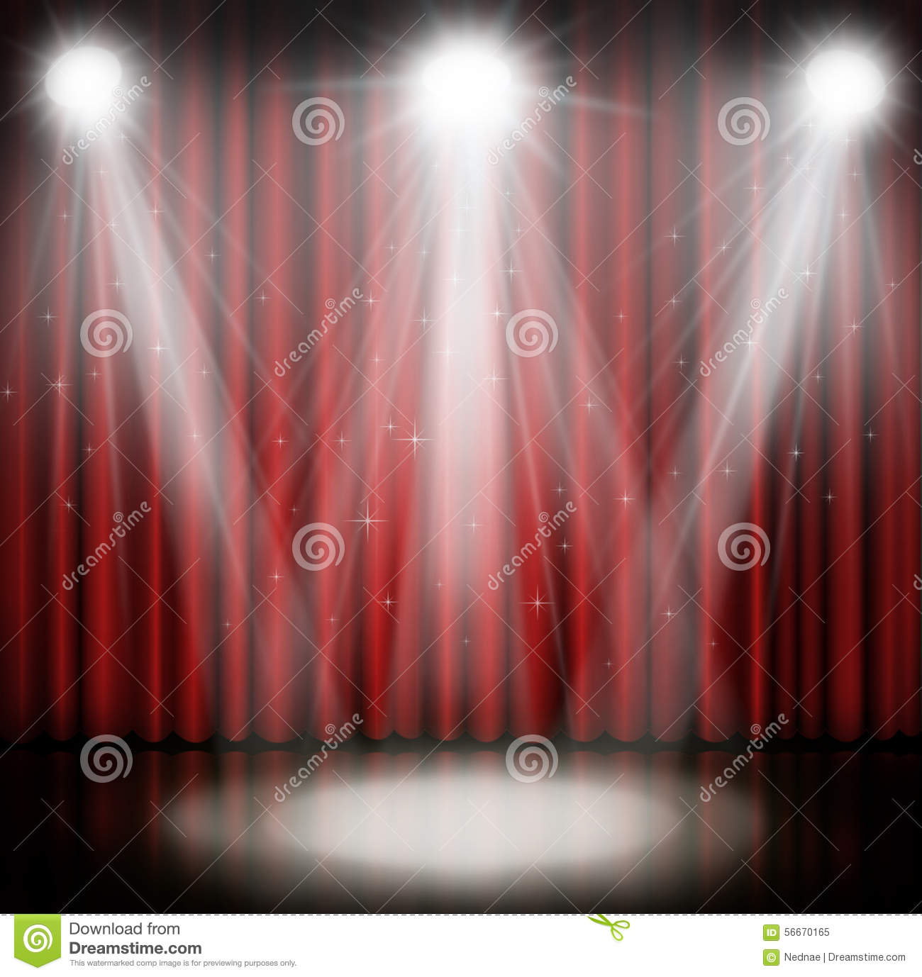 Stage curtains spotlight - Background Curtain Red Spotlight Stage