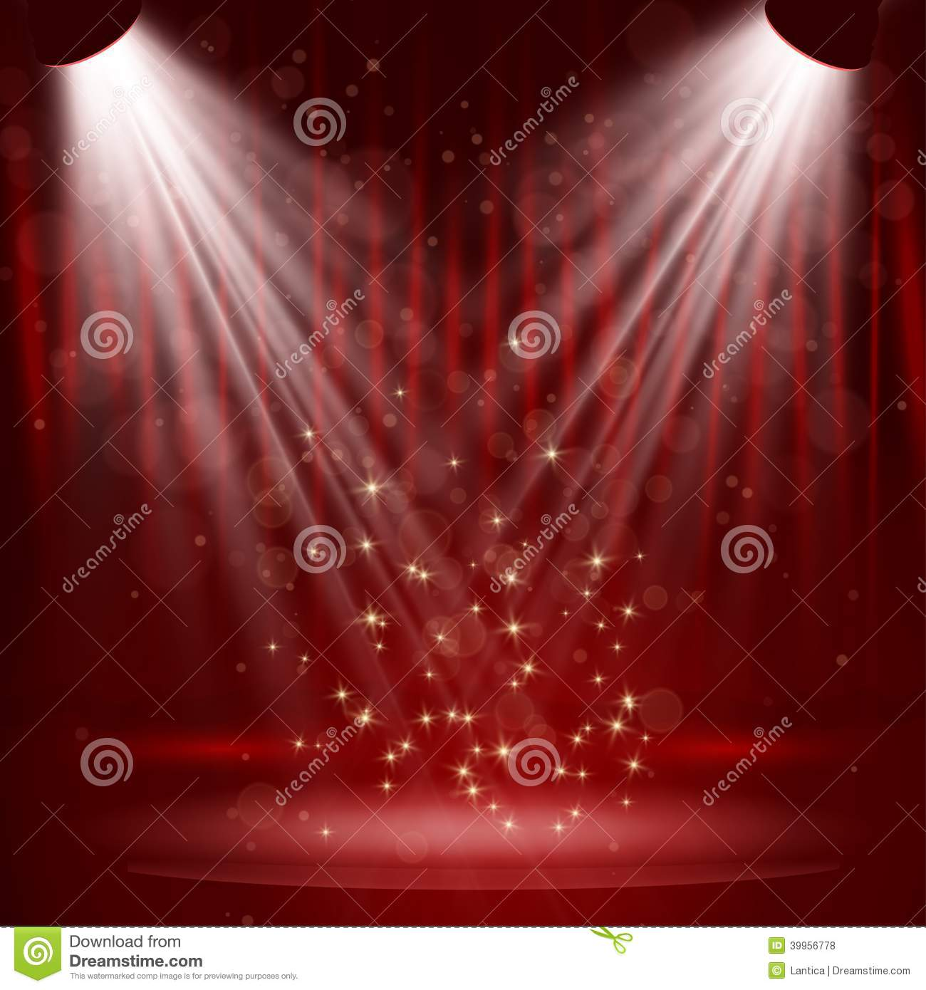 Stage curtains spotlight - Curtain Spotlight Stage
