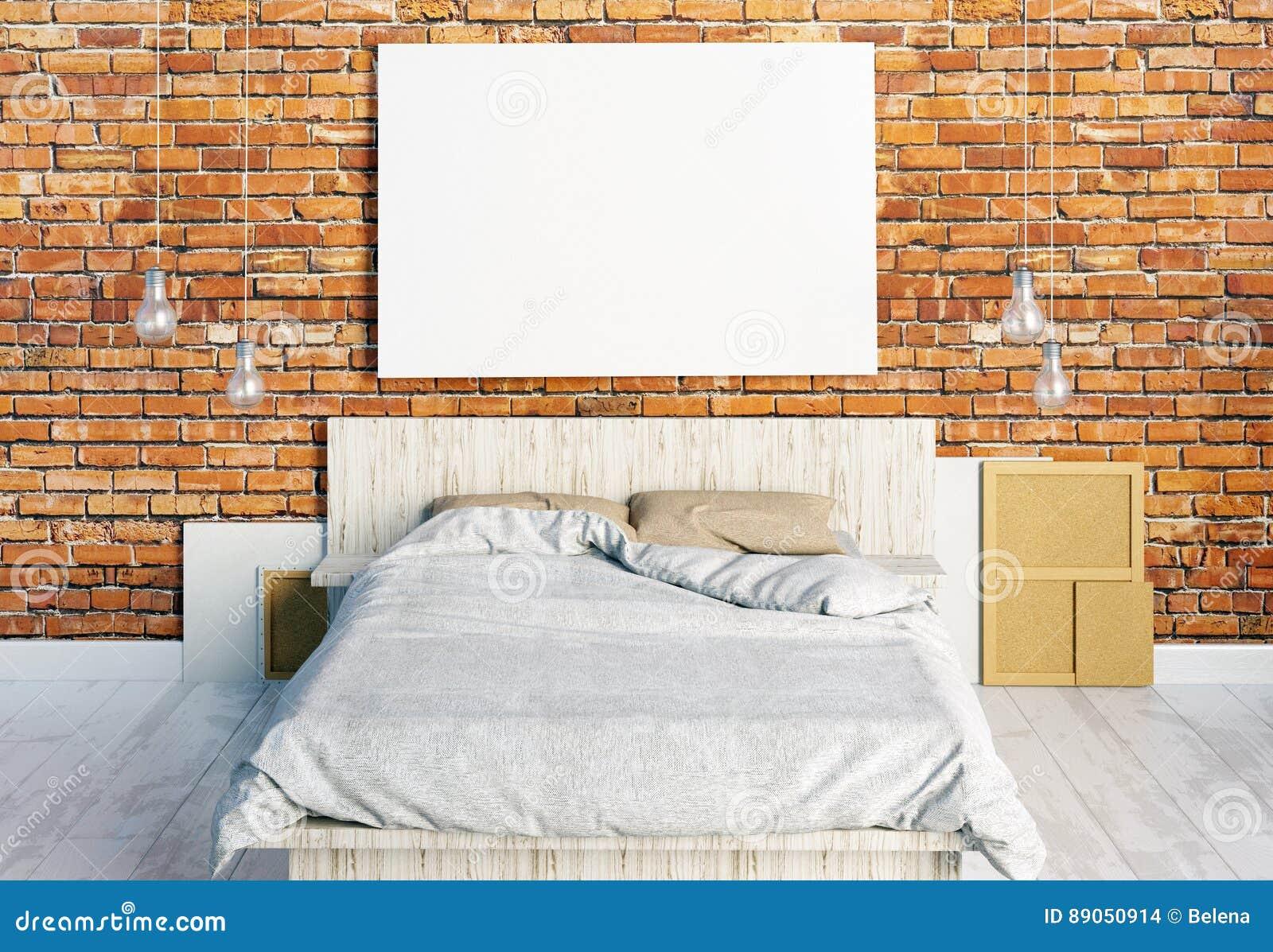 Spott herauf Poster im Schlafzimmerinnenraum Schlafzimmerhippie-Art