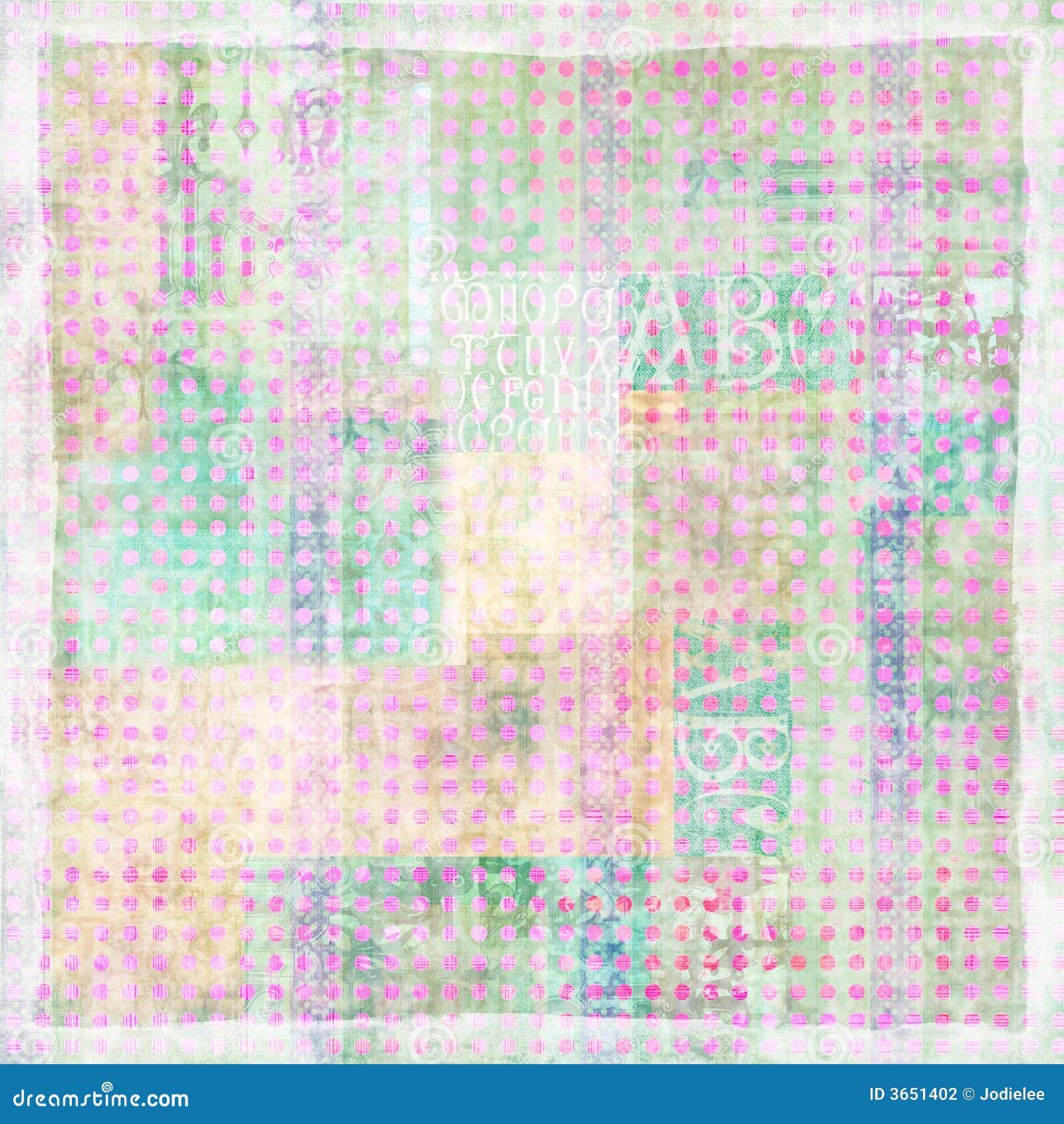 spotted art paper scrapbook background stock illustration