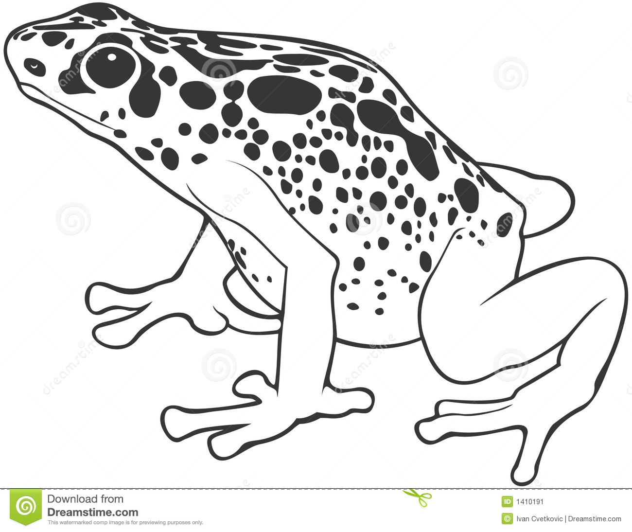 Frog Habitat Coloring Pages