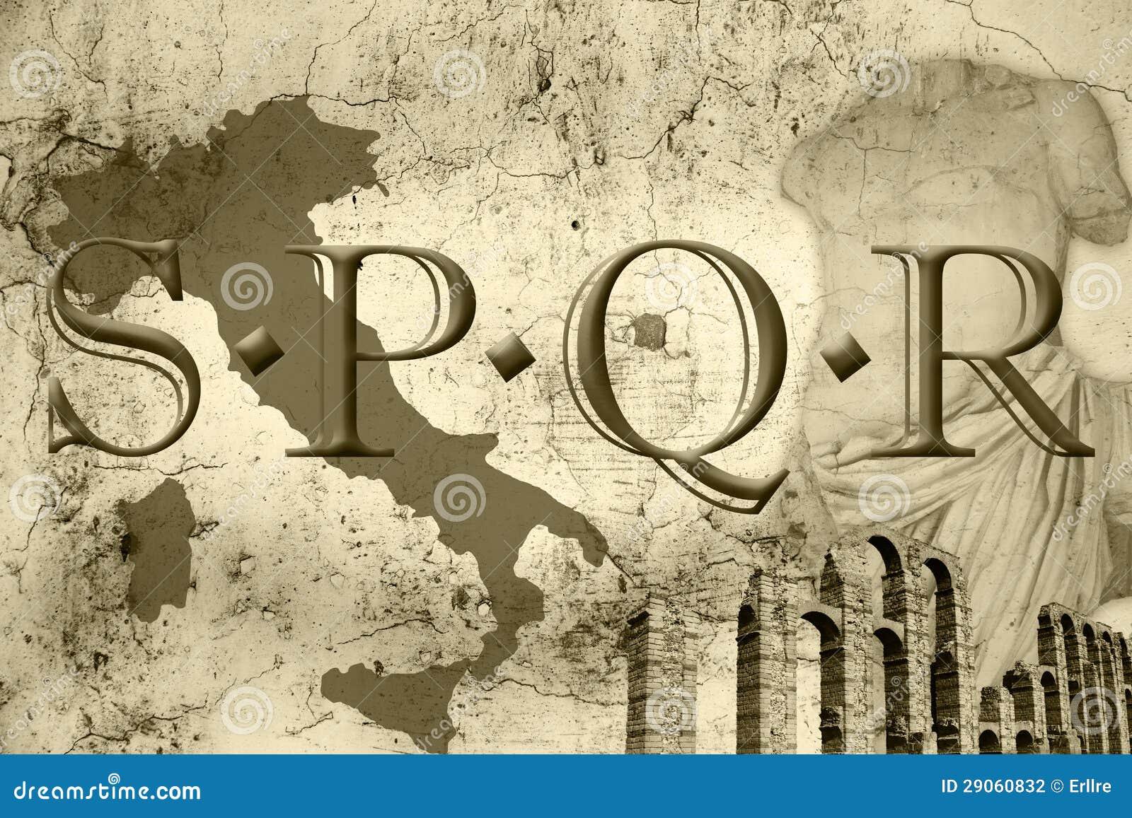 Roman Gladiator Tattoo SPQR