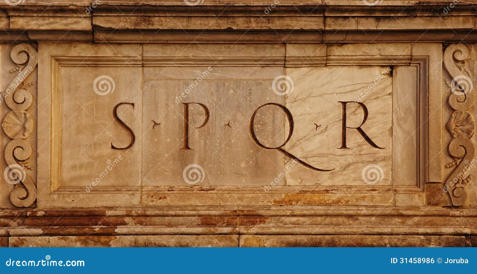 Rome Italy Roman Symbol SPQR Italian Architecture Detail