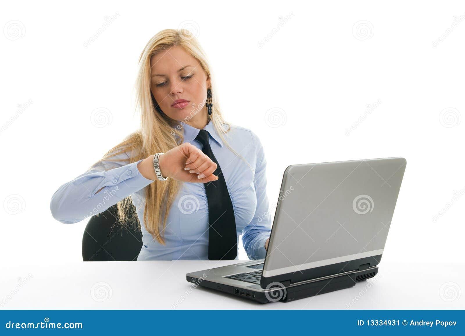 Sprawdzać czas niespokojni bizneswomany