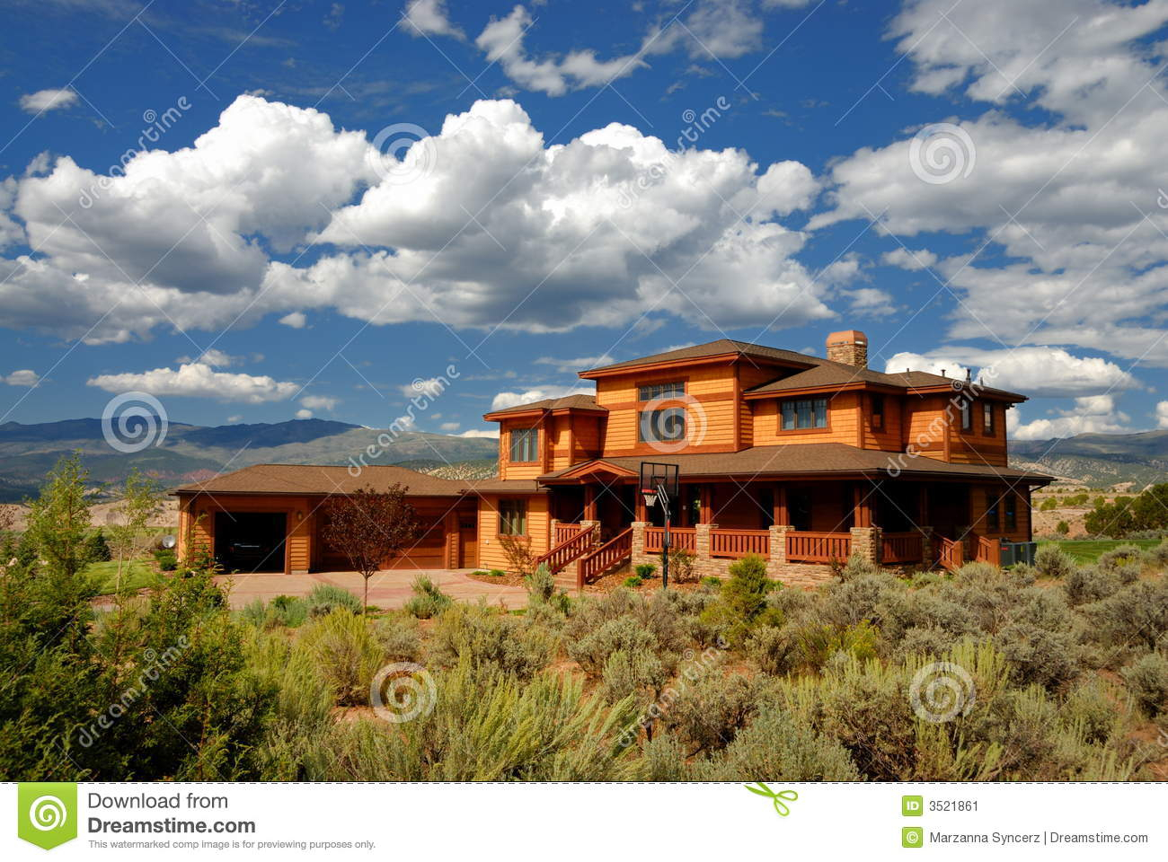 Sprawling house in colorado stock image image 3521861 for Building a home in colorado