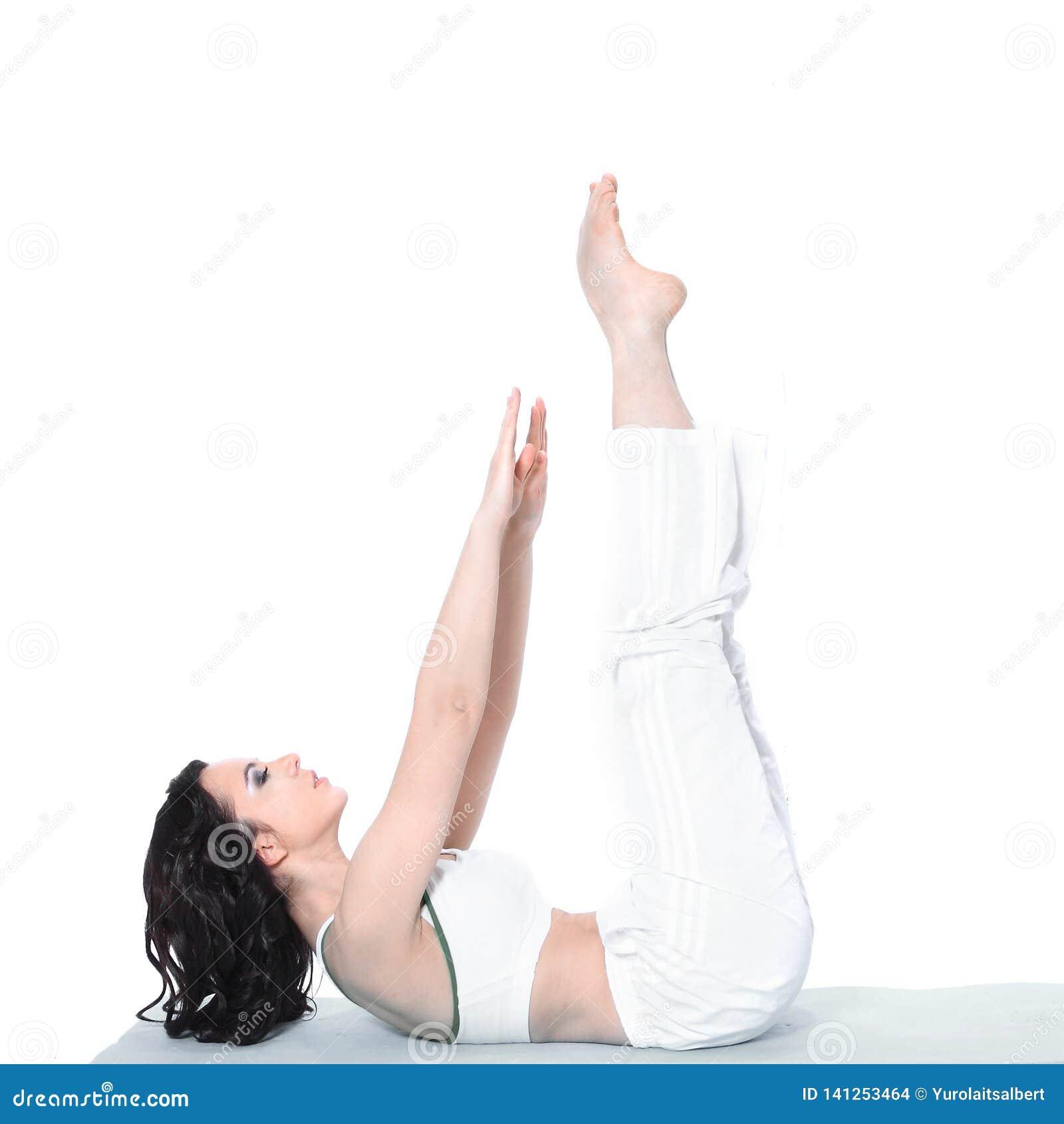 Sprawność fizyczna, sport, szkolenie, gym i stylu życia pojęcie, - piękna sporty kobieta robi ćwiczeniu na podłoga