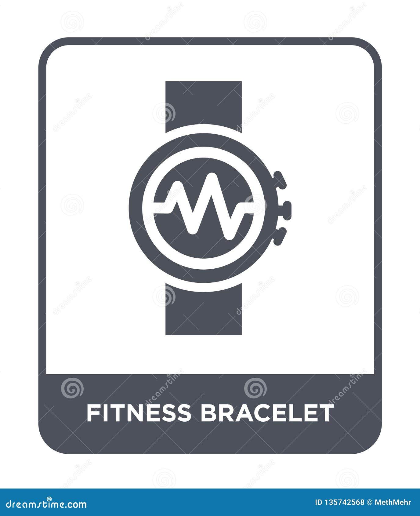 Sprawności fizycznej bransoletki ikona w modnym projekta stylu sprawności fizycznej bransoletki ikona odizolowywająca na białym t