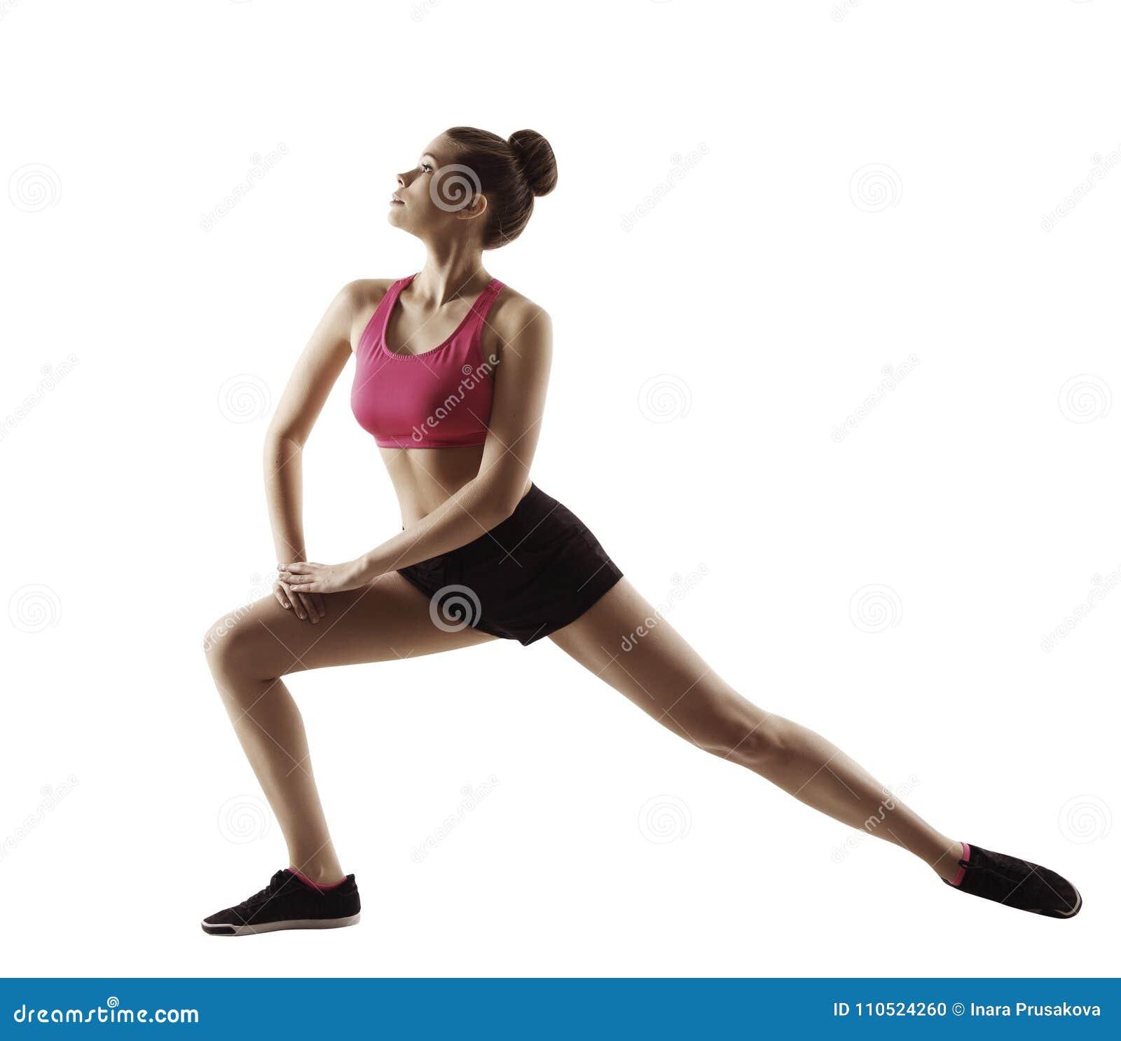 Sprawności fizycznej kobiety rozciągliwości gimnastyk trening, Rozciąga noga sport